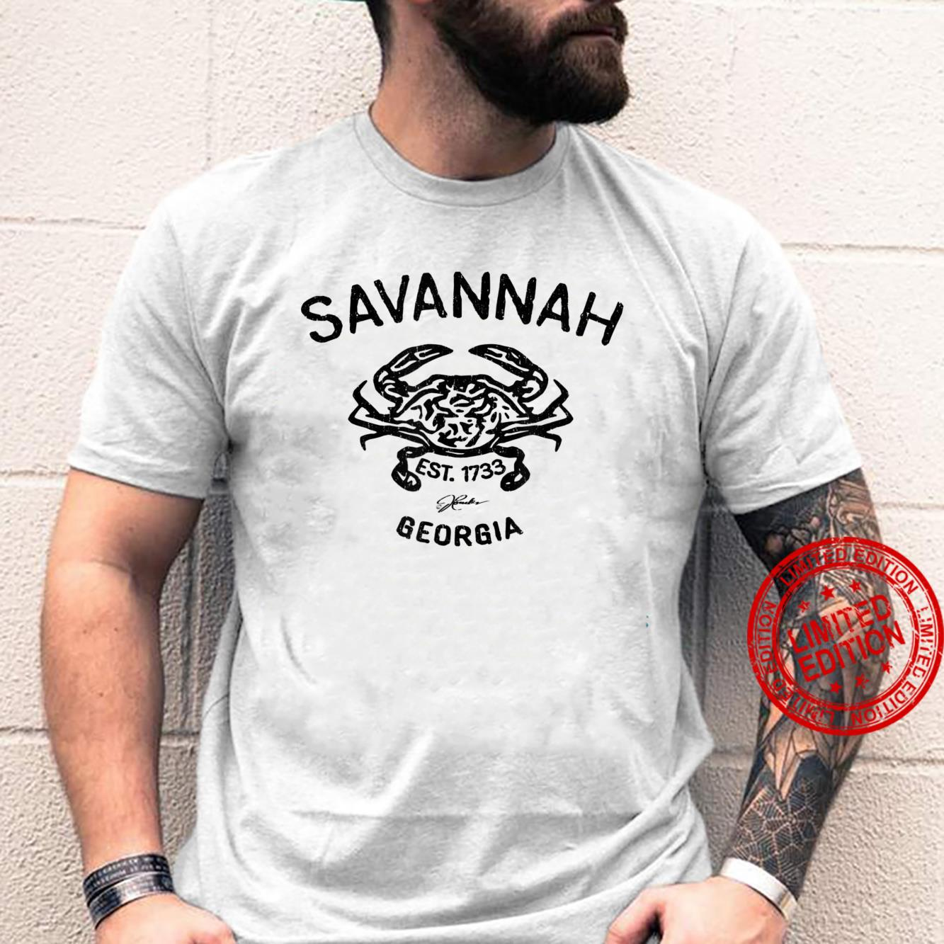 JCombs Savannah, Georgia, Atlantic Blue Crab Shirt