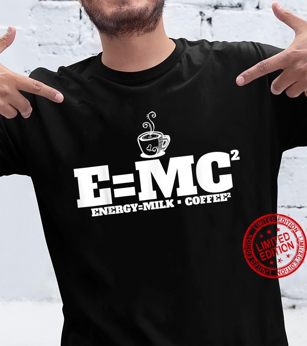 Kaffee Milchkaffee Kaffeetrinker Frühaufsteher Koffein Shirt