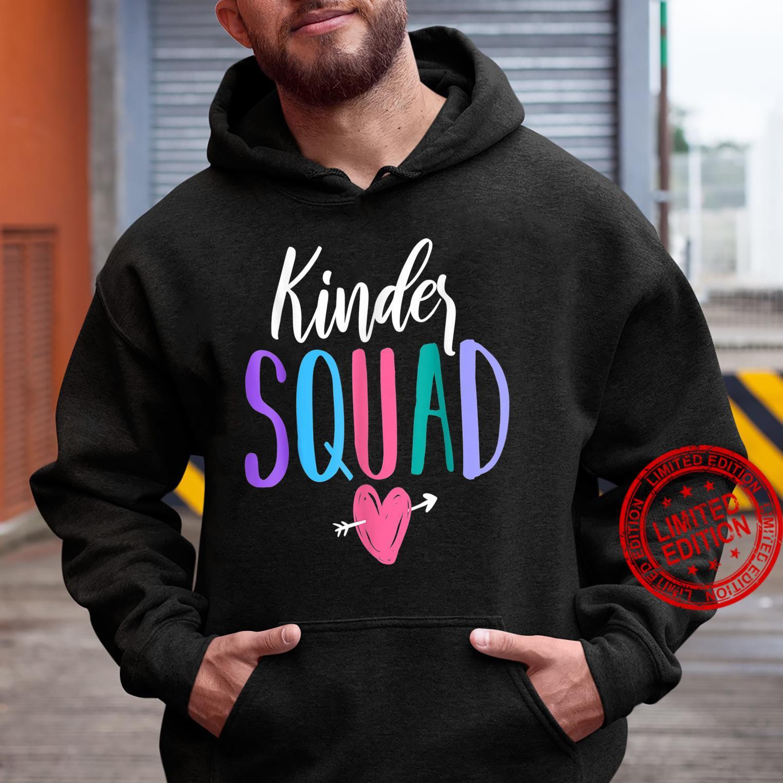 Kinder Squad Kindergarten Teacher Students Back to School Shirt hoodie