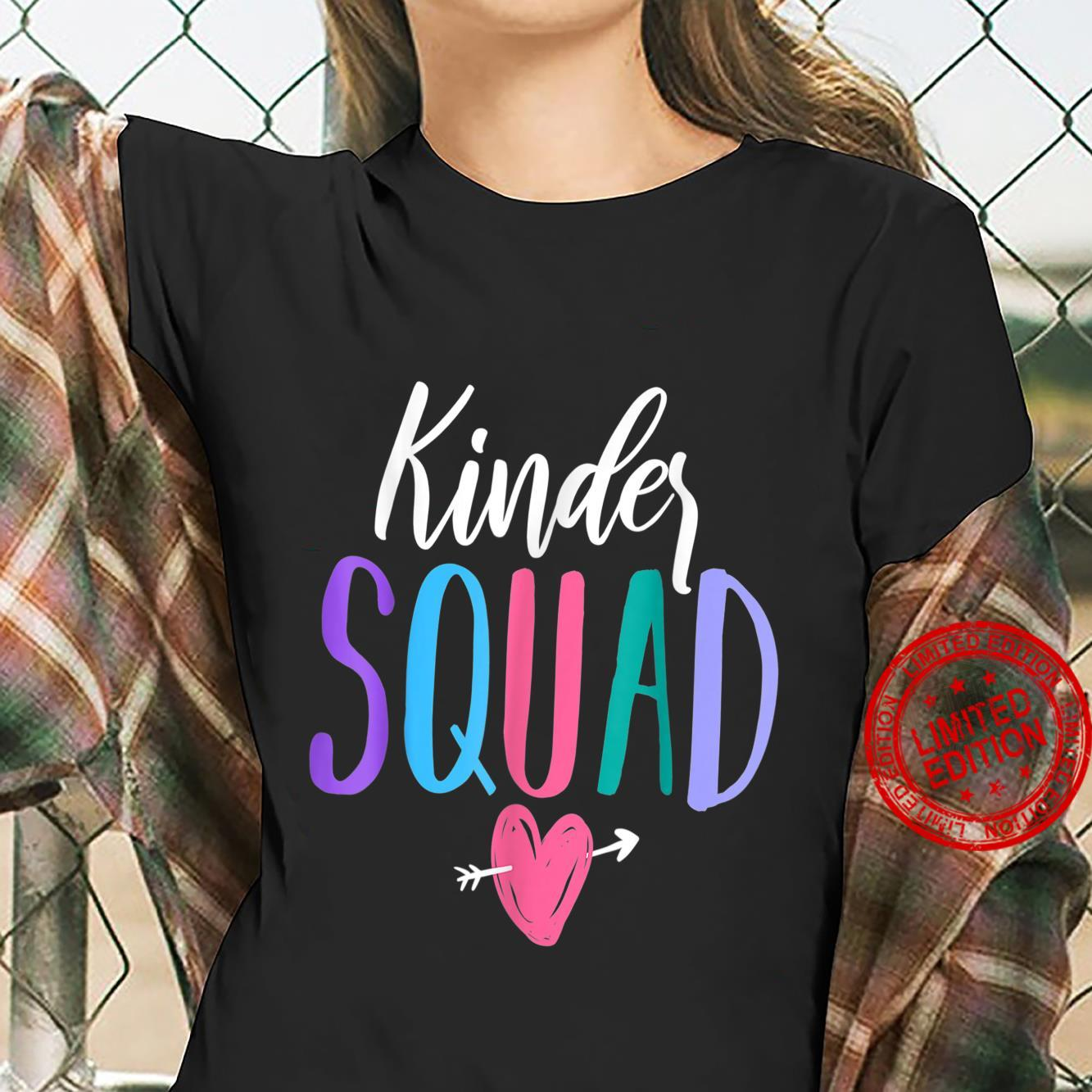 Kinder Squad Kindergarten Teacher Students Back to School Shirt ladies tee