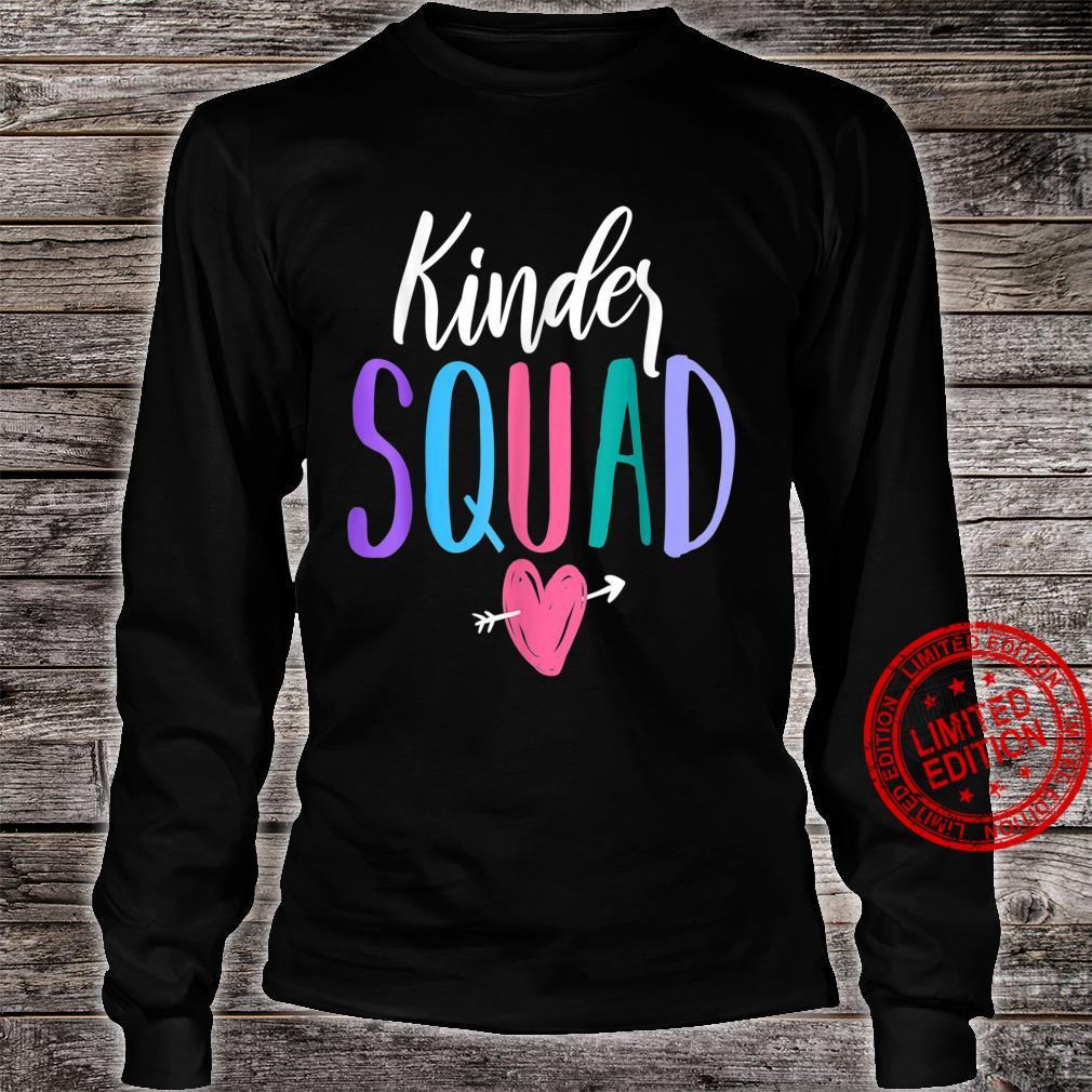 Kinder Squad Kindergarten Teacher Students Back to School Shirt long sleeved