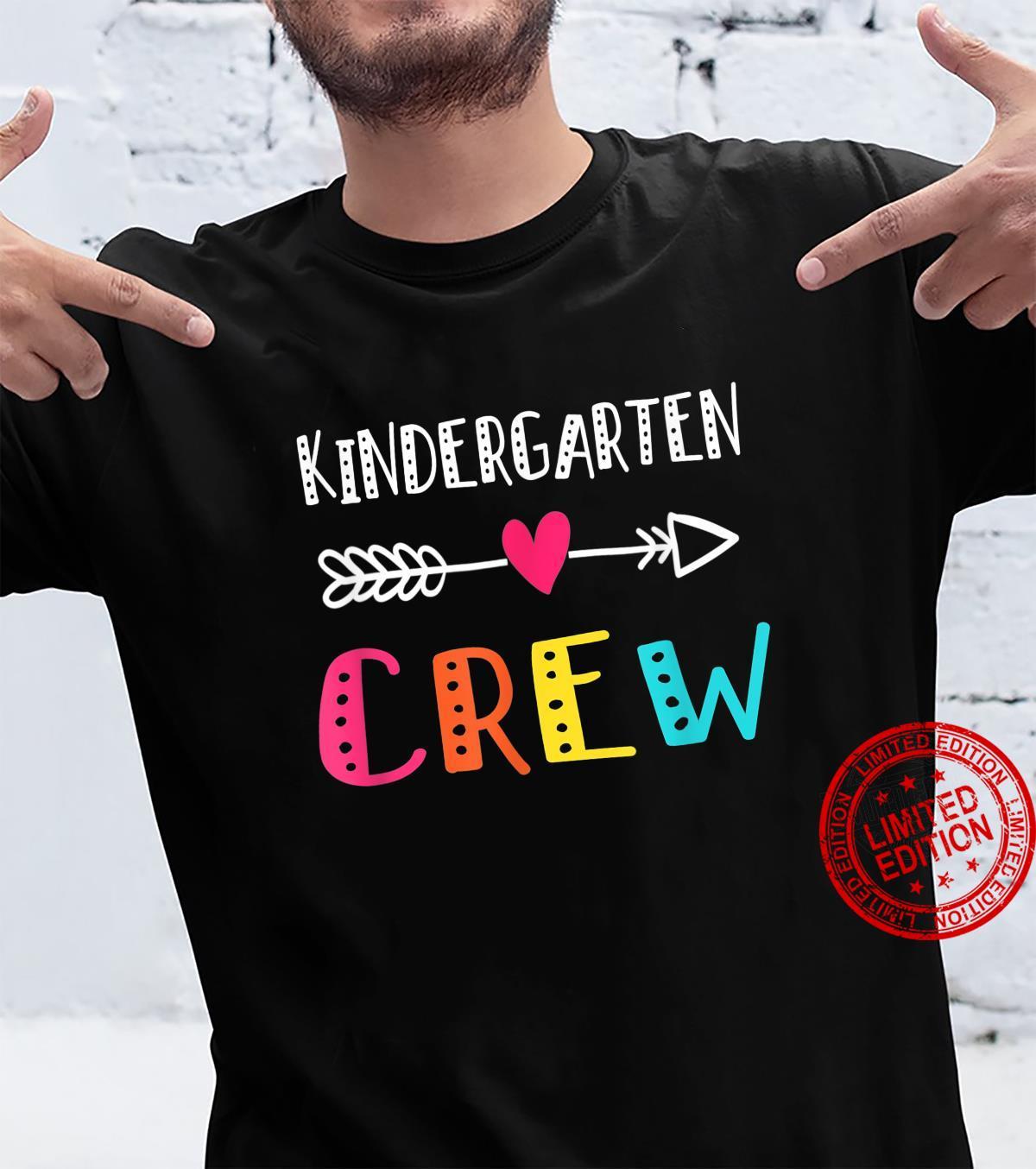 Kindergarten Teacher Back To School Crew Shirt