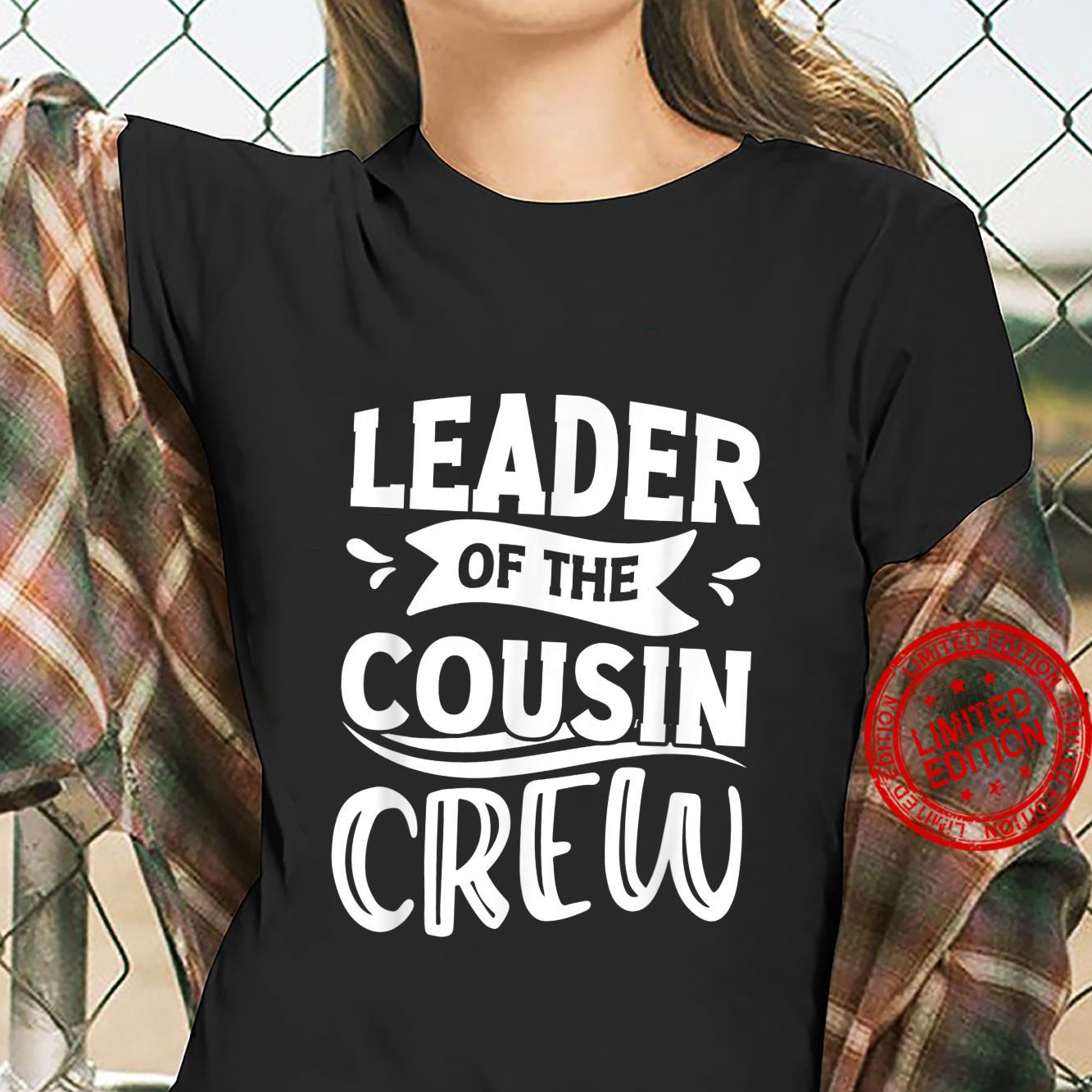 Leader of the Cousin Crew Pajamas 4th of july Shirt ladies tee