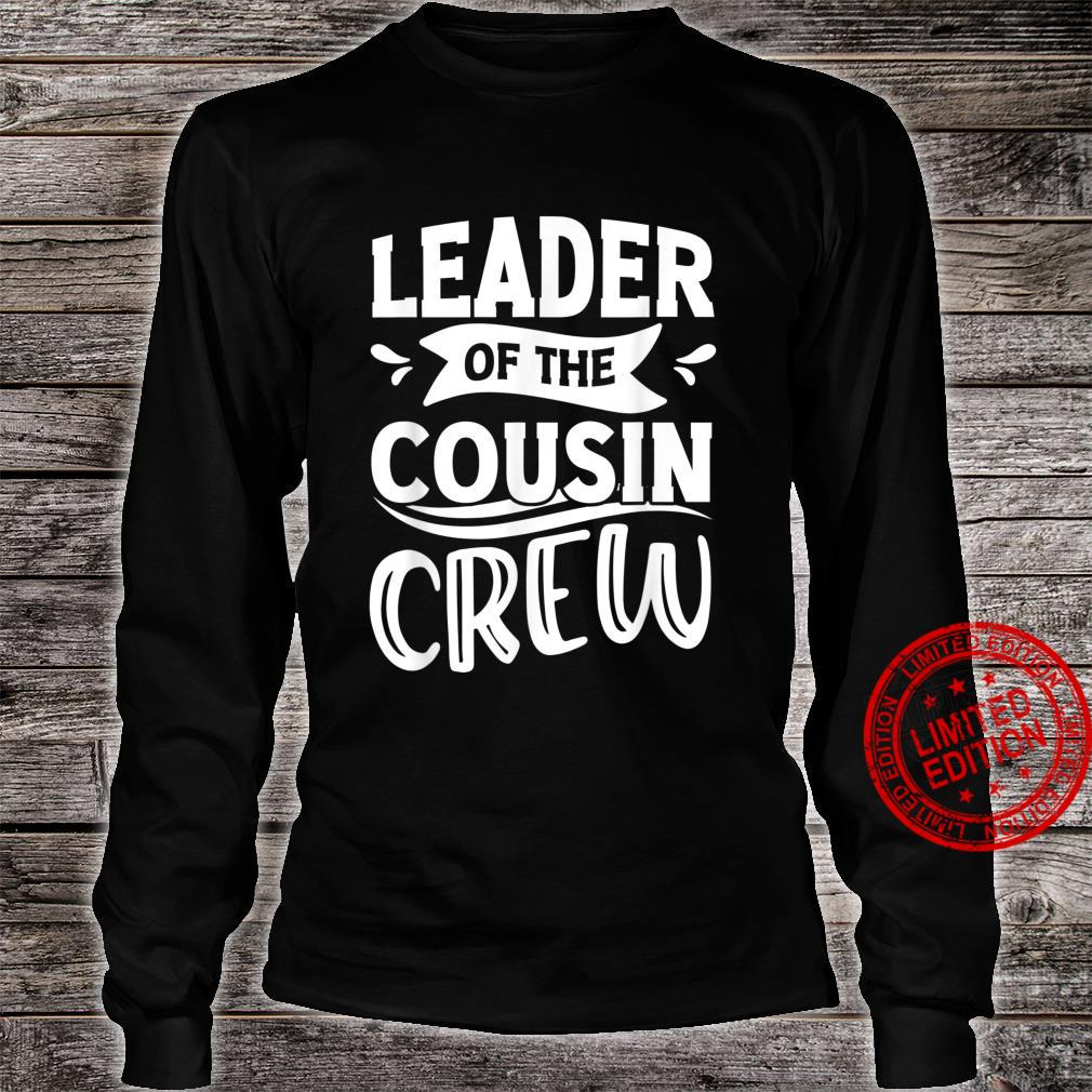 Leader of the Cousin Crew Pajamas 4th of july Shirt long sleeved