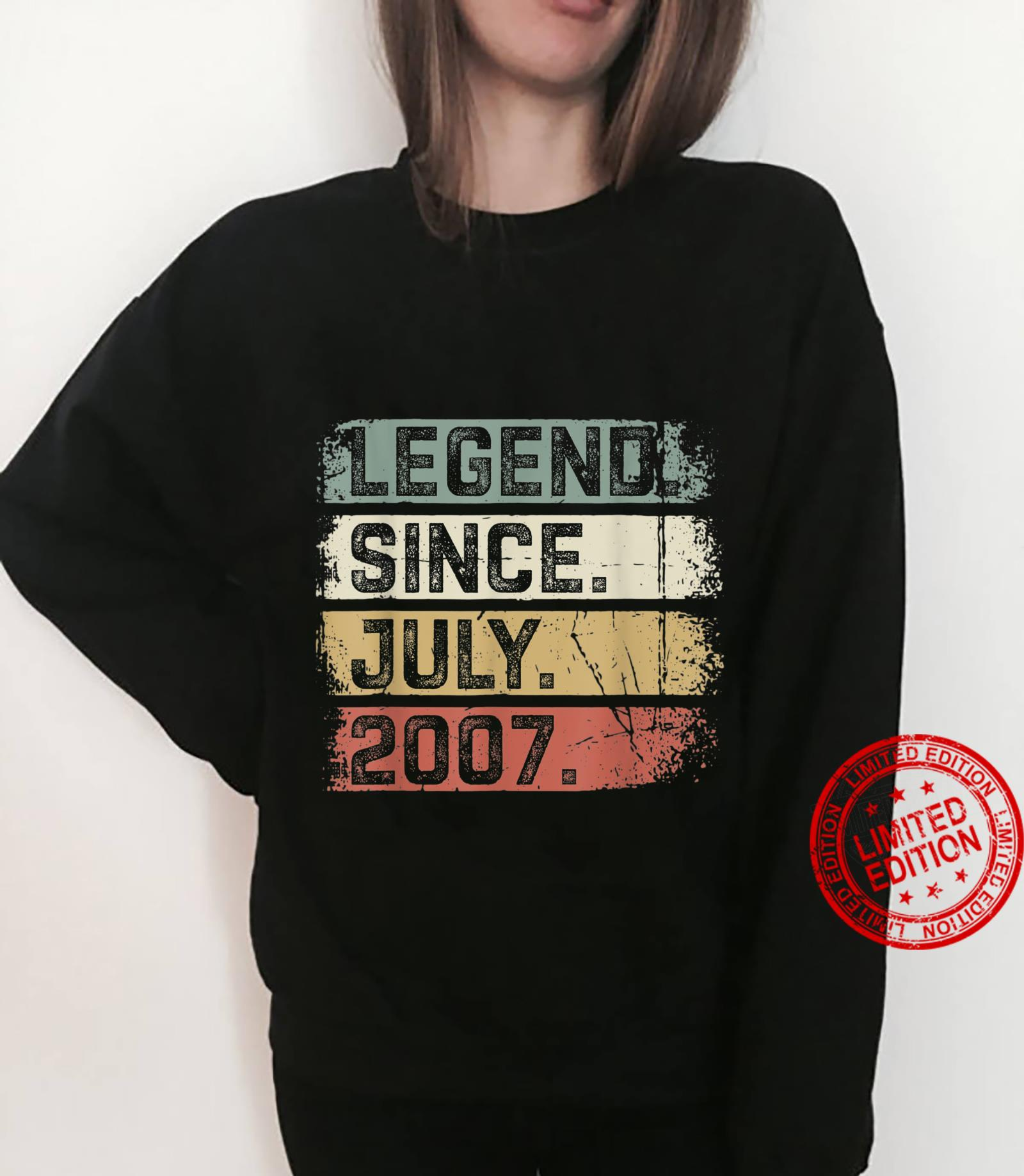 Legend Since July 2007 14th Birthday 14 Years Old Shirt sweater