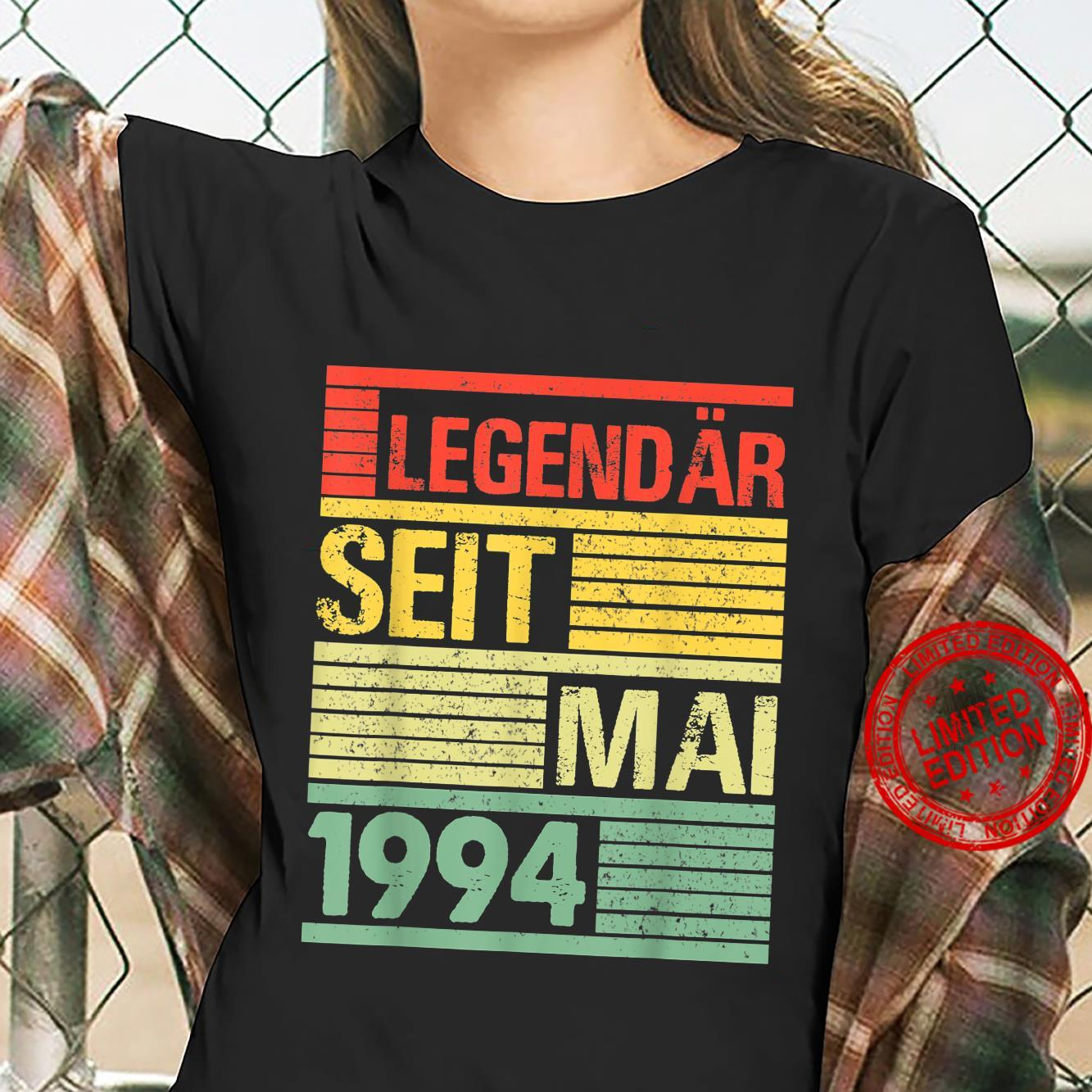 Legendär Seit Mai 1994 27. Geburtstag Shirt ladies tee