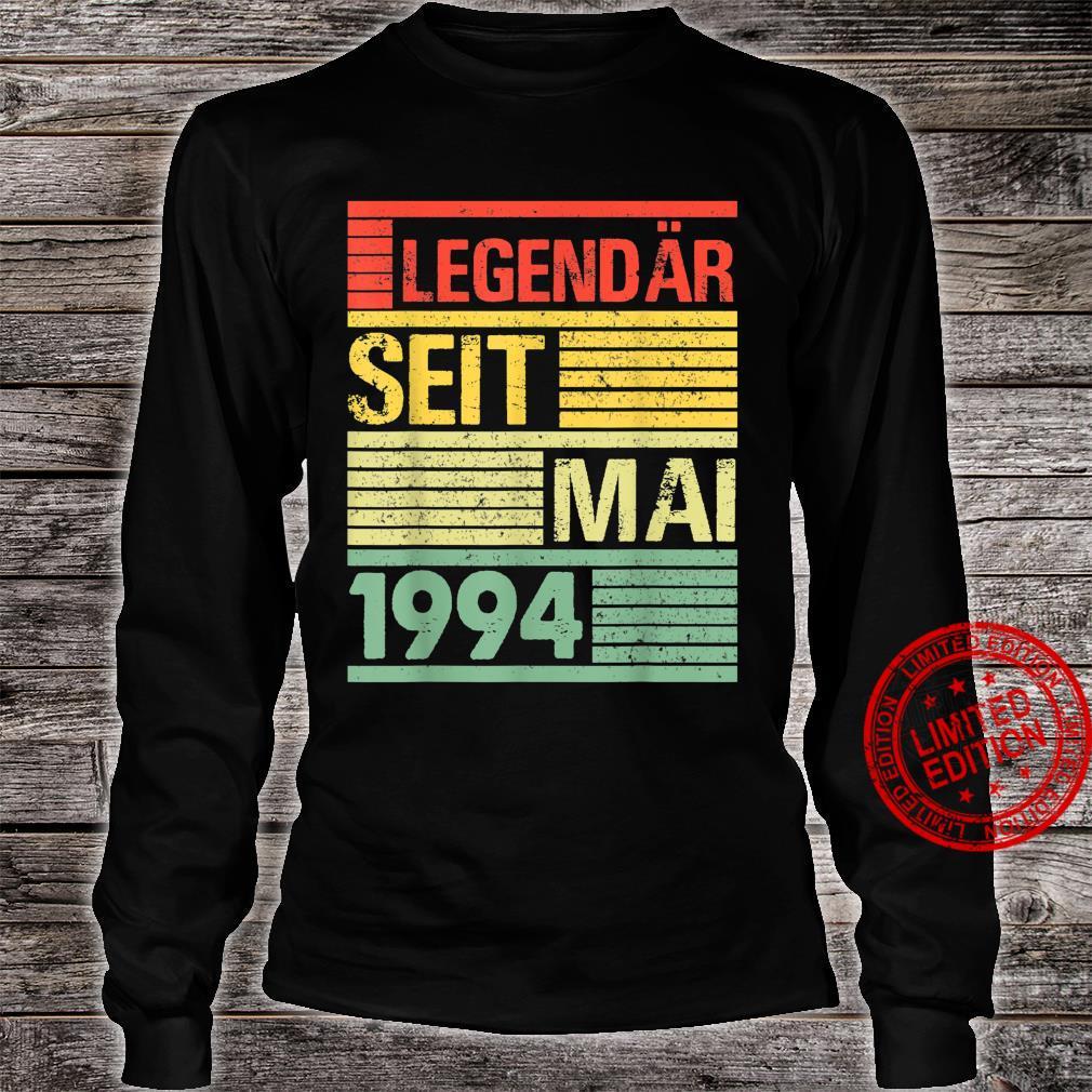 Legendär Seit Mai 1994 27. Geburtstag Shirt long sleeved