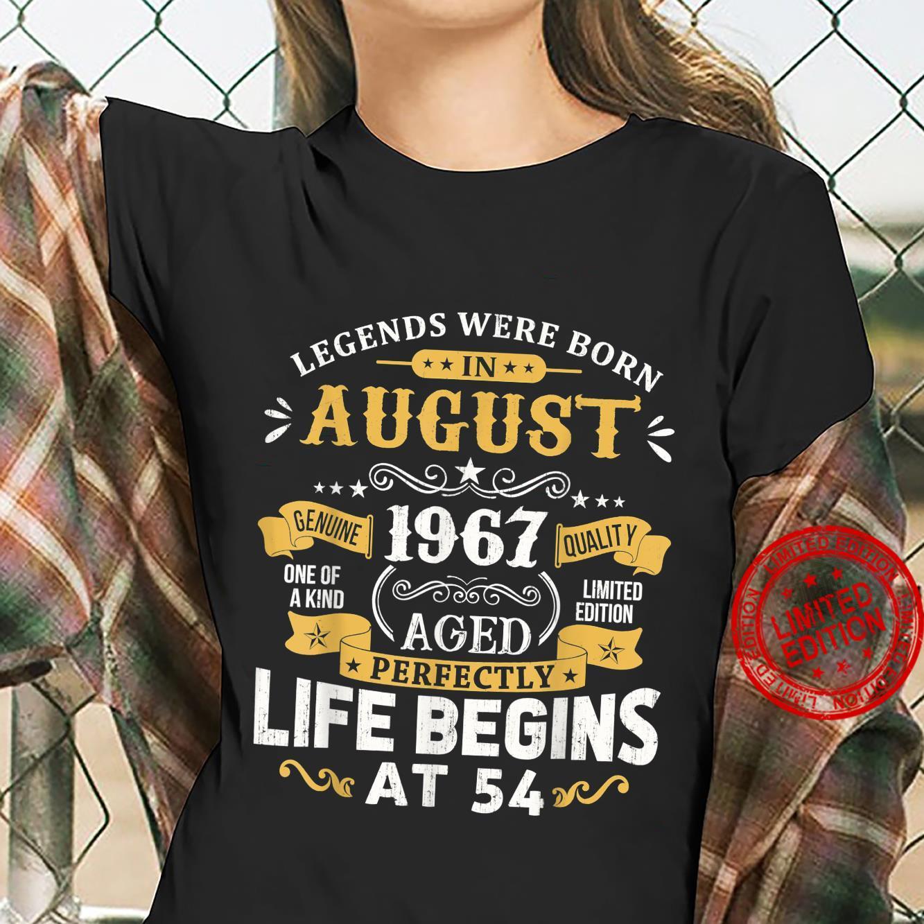 Legends Were Born In August 1967 Shirt 54th Birthday Shirt ladies tee