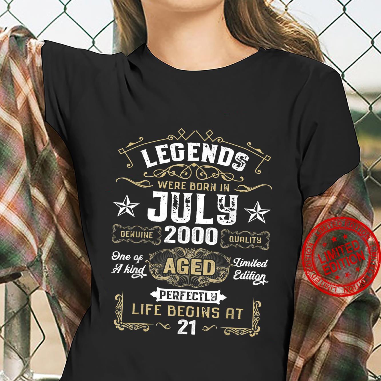 Legends Were Born In July 2000 21st Quarantine Birthday Shirt ladies tee