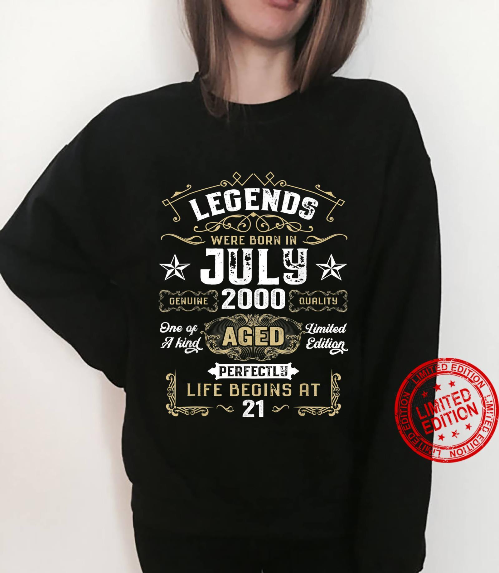 Legends Were Born In July 2000 21st Quarantine Birthday Shirt sweater