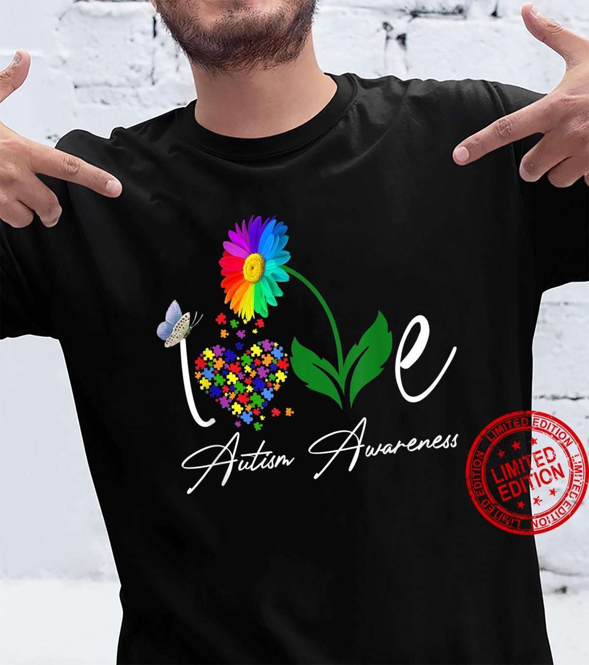 Love Puzzle Daisy Flower Autism Awareness Shirt Shirt