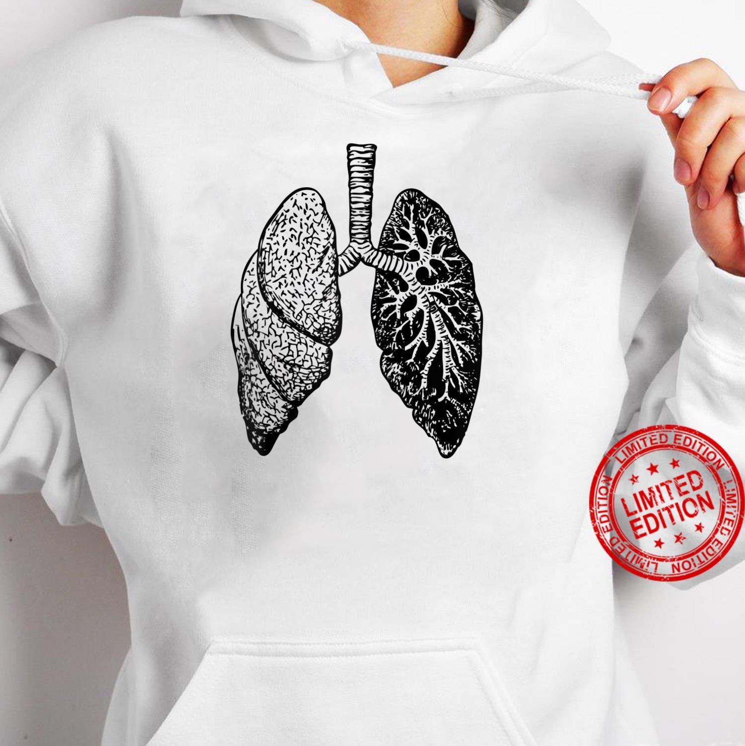 Lung Diagram Shirt Doctor Nurse Lungs Chart Shirt hoodie