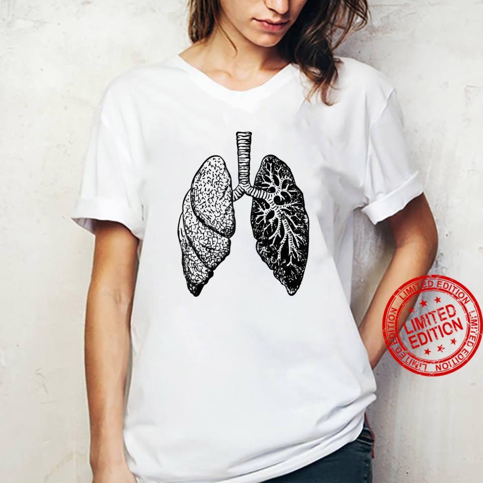 Lung Diagram Shirt Doctor Nurse Lungs Chart Shirt ladies tee