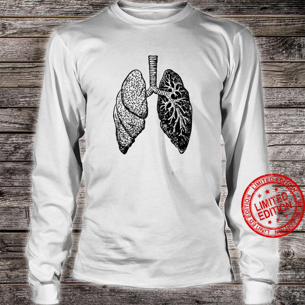 Lung Diagram Shirt Doctor Nurse Lungs Chart Shirt long sleeved