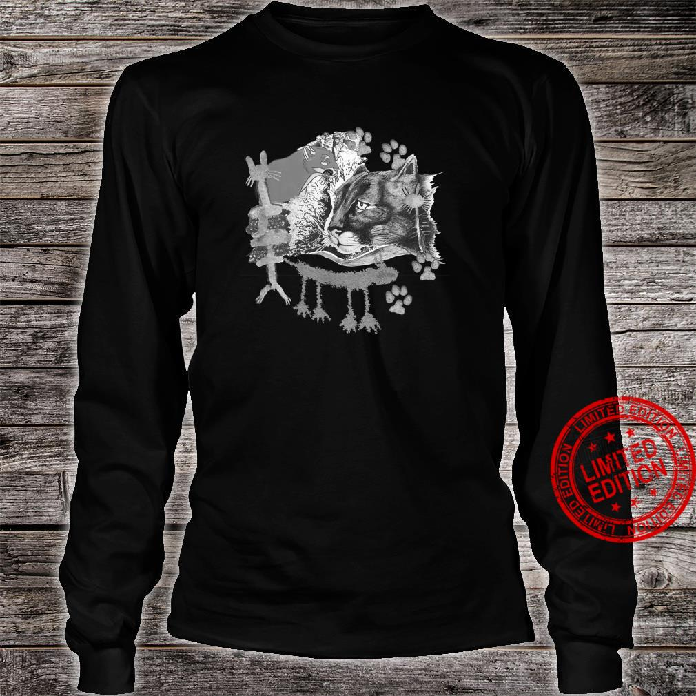 Many lions, petrographs and artwork. Shirt long sleeved