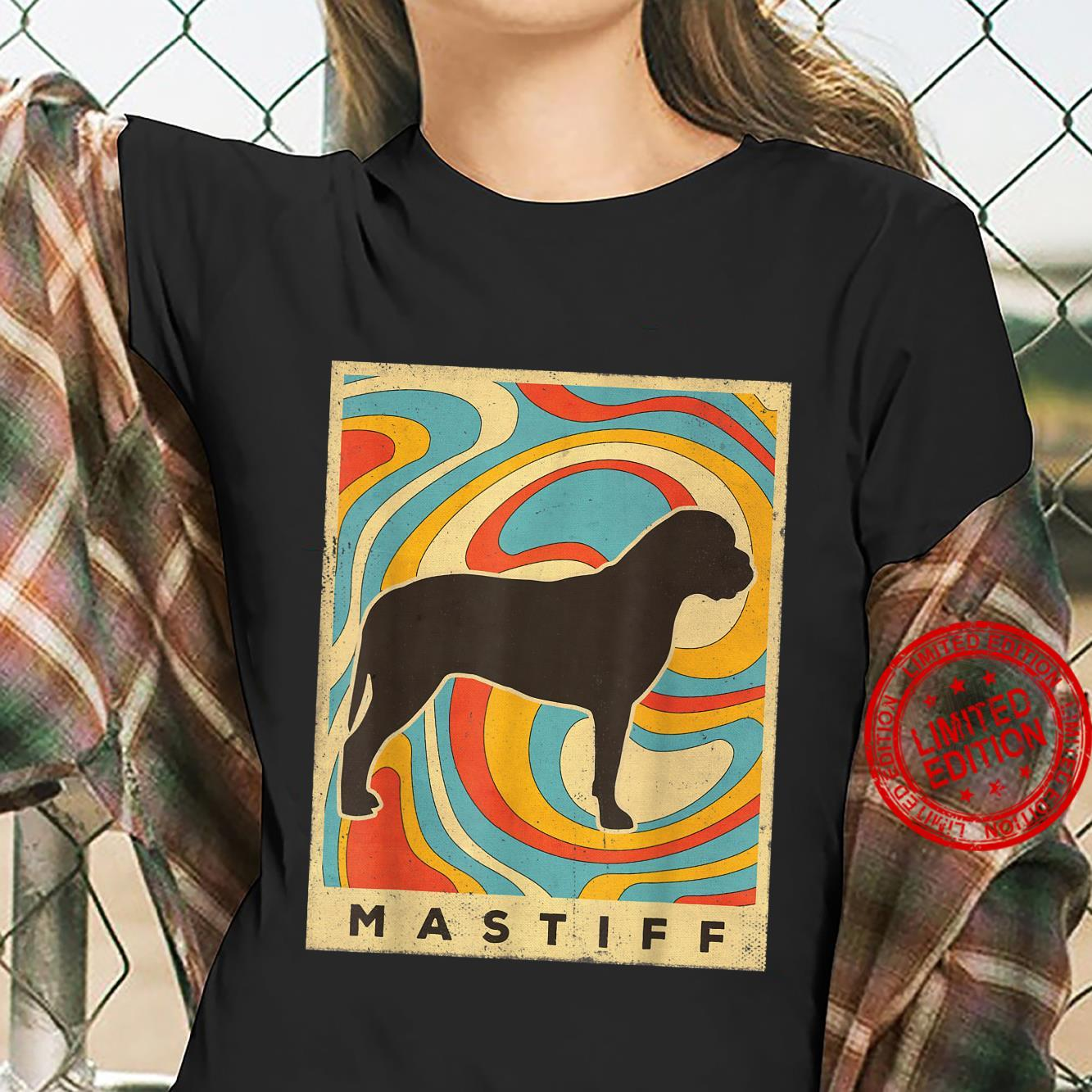 Mastiff Dog Retro Vintage Shirt ladies tee