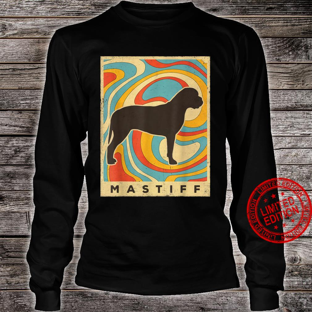 Mastiff Dog Retro Vintage Shirt long sleeved