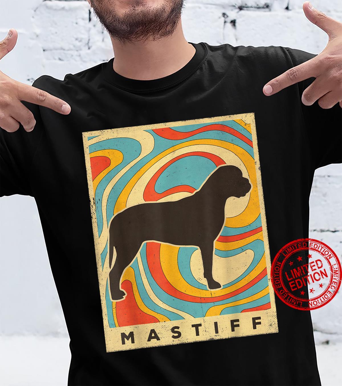 Mastiff Dog Retro Vintage Shirt
