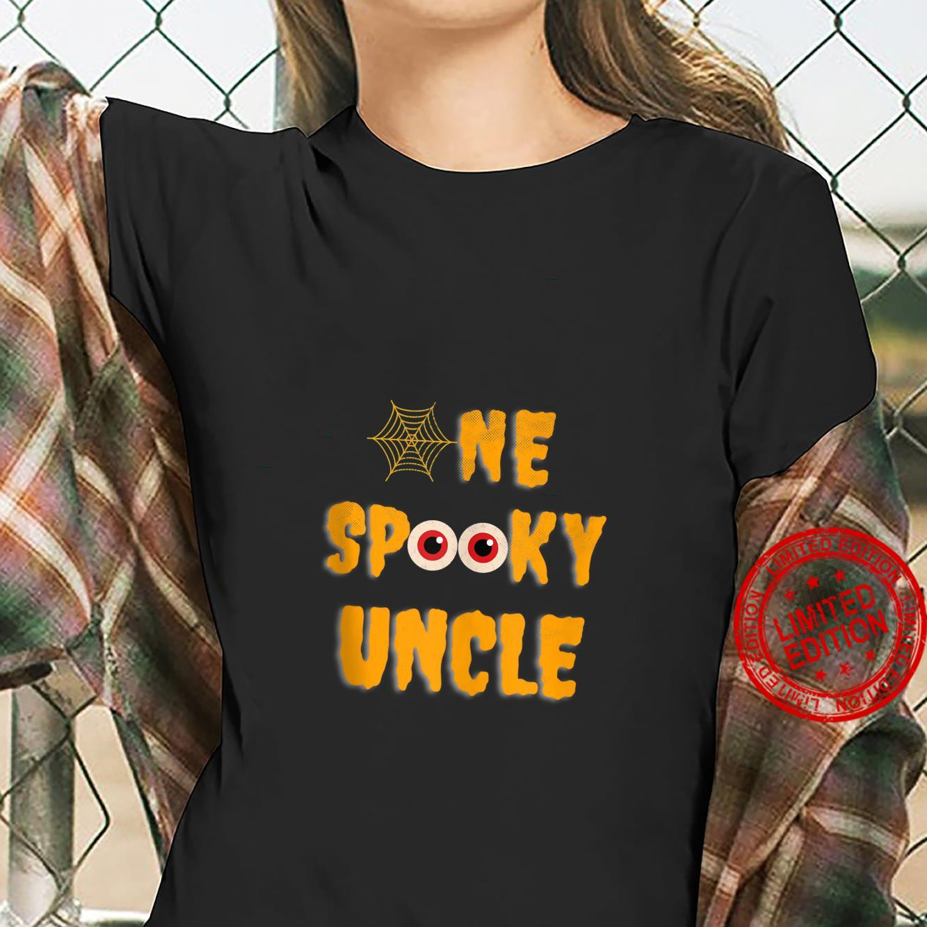 Mens One Spooky Uncle Family Matching Scary Halloween Shirt ladies tee