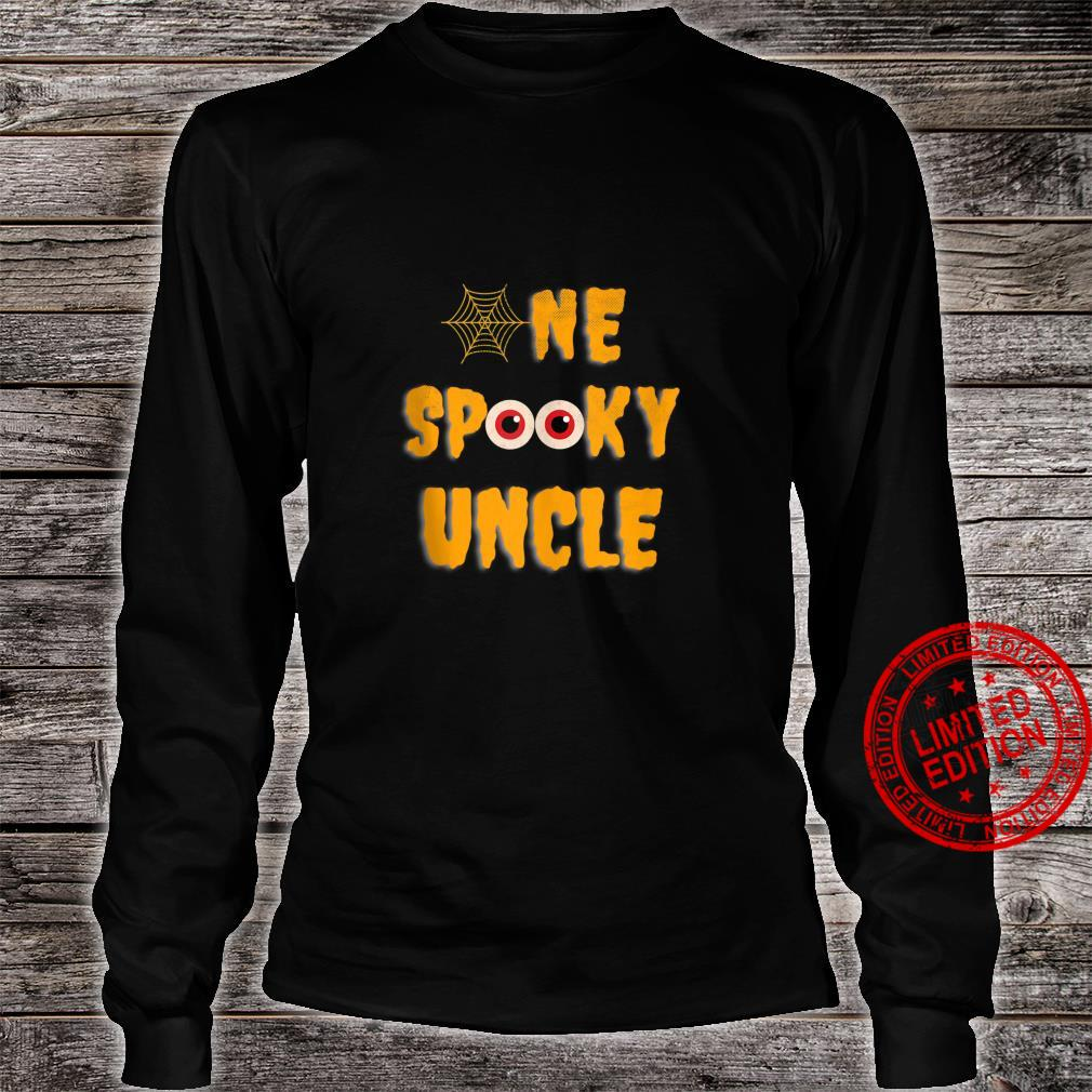 Mens One Spooky Uncle Family Matching Scary Halloween Shirt long sleeved