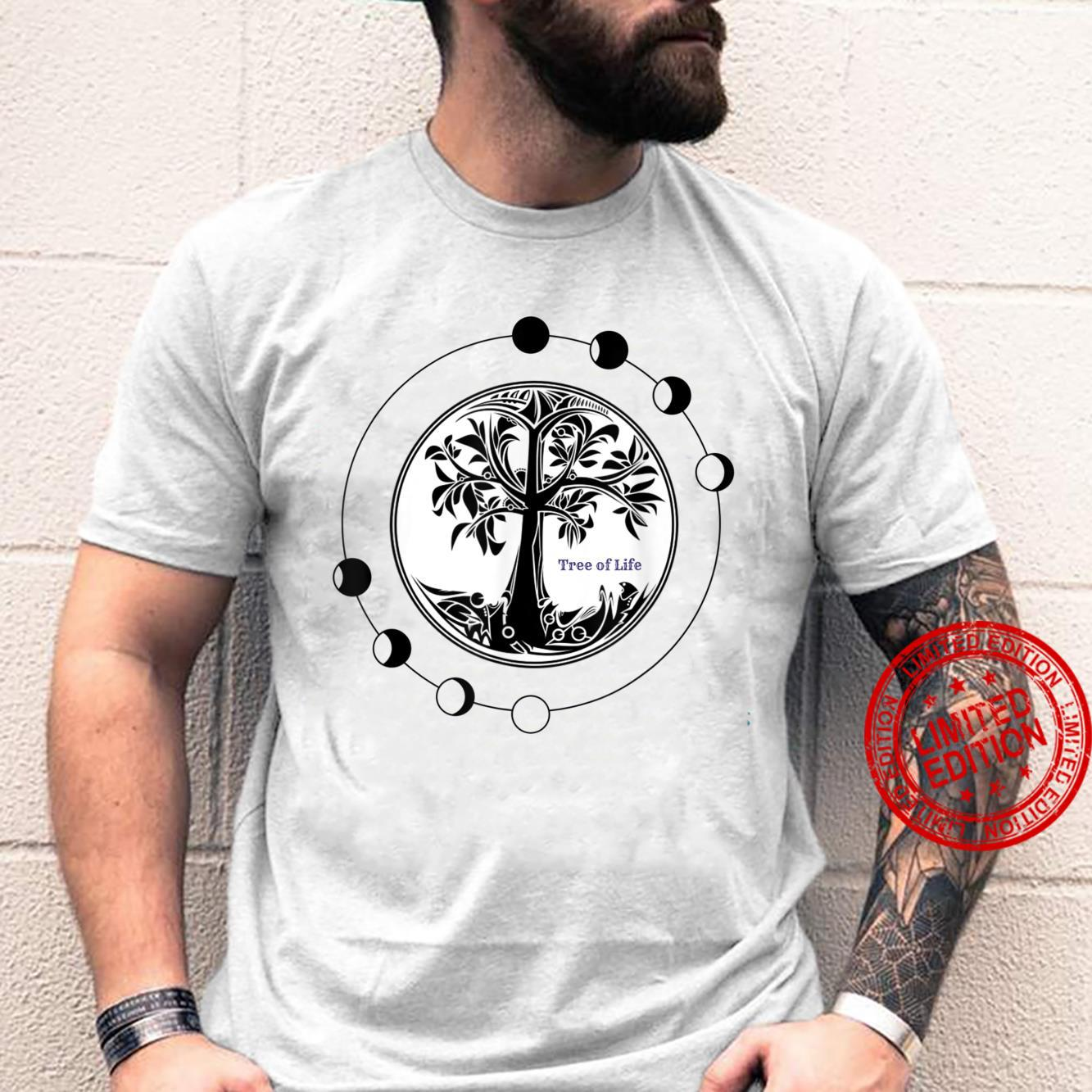 Mens Tree of Life Phases of the Moon Shirt
