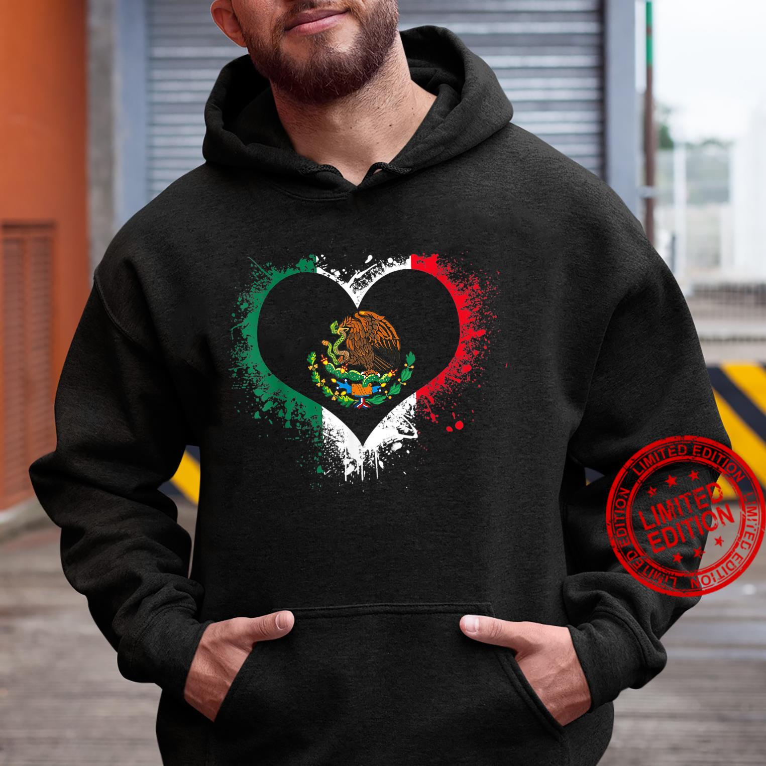 Mexican Heart Flag Eagle Mexico Independence Eagle Shirt hoodie