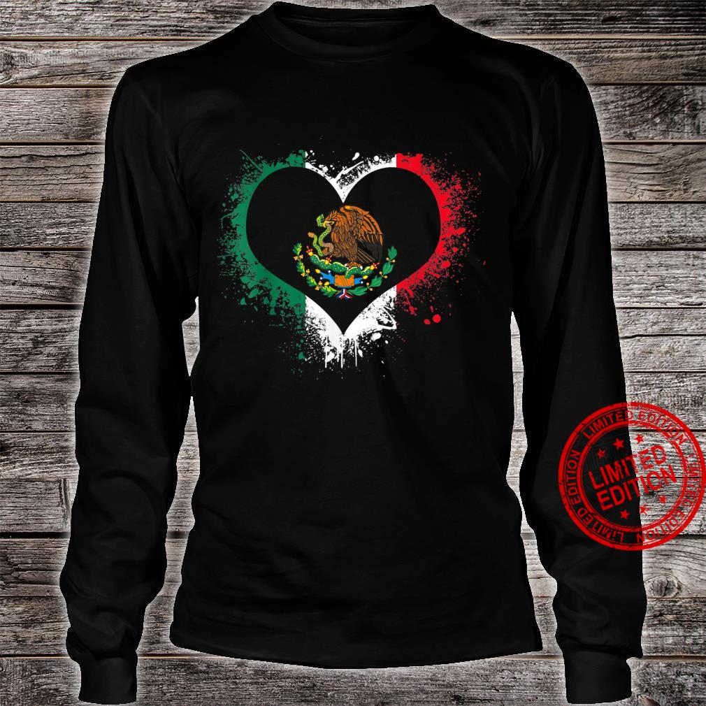 Mexican Heart Flag Eagle Mexico Independence Eagle Shirt long sleeved