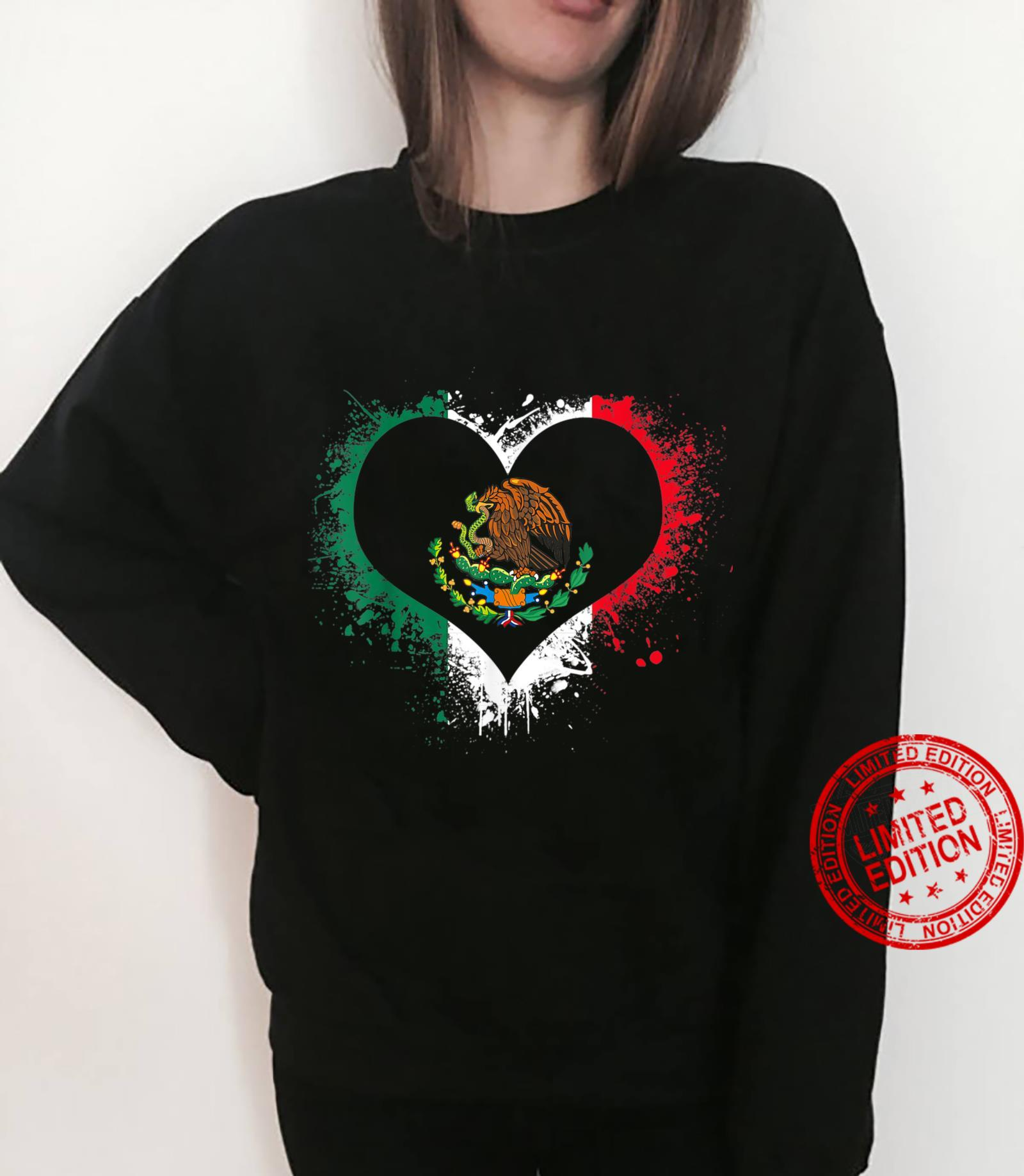 Mexican Heart Flag Eagle Mexico Independence Eagle Shirt sweater
