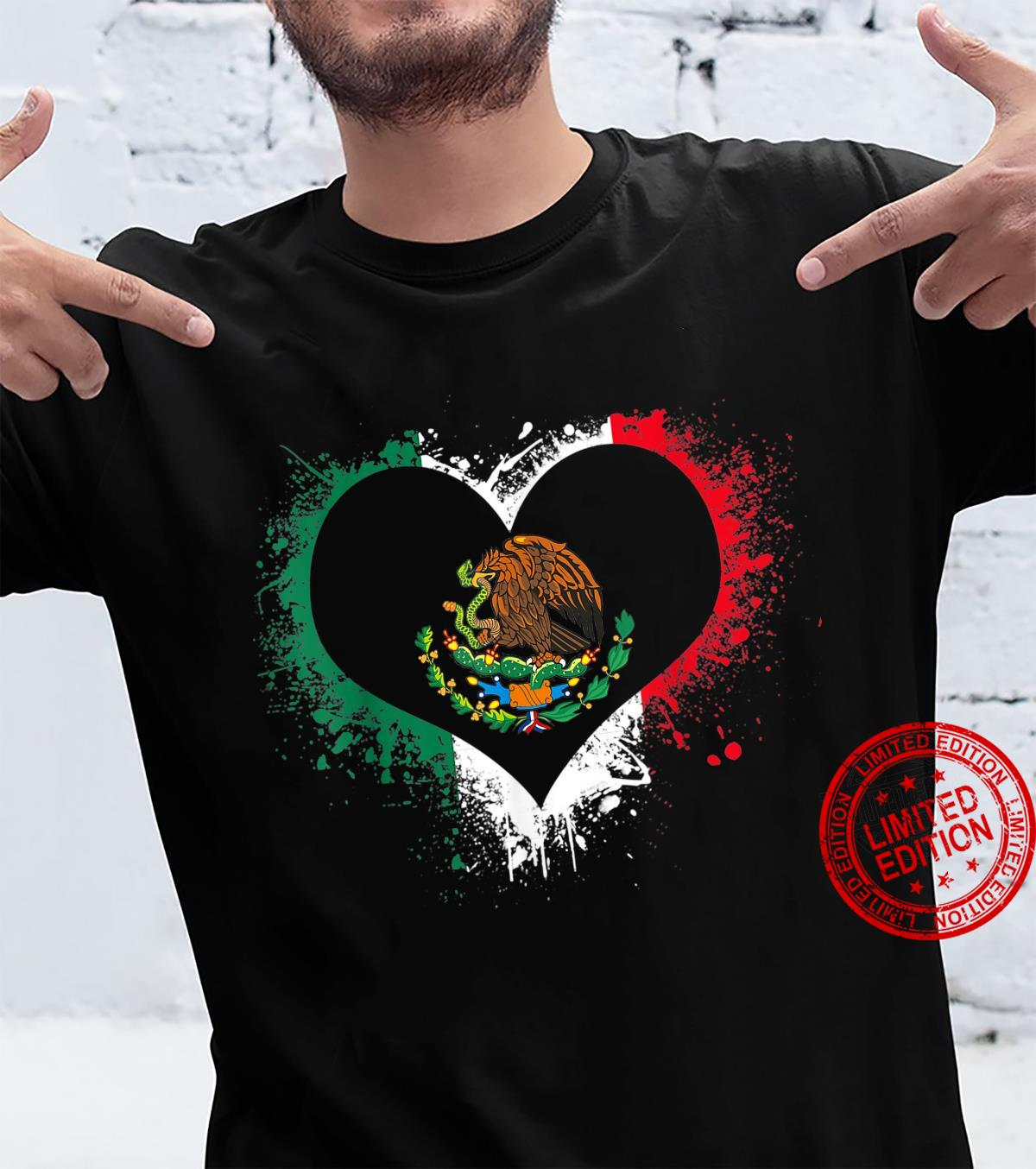 Mexican Heart Flag Eagle Mexico Independence Eagle Shirt