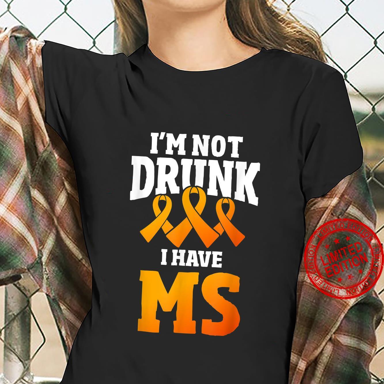 Multiple Sclerosis Patient Autoimmune Disease Orange Ribbon Shirt ladies tee