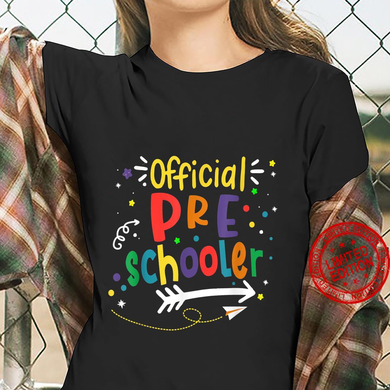 Official Preschooler Girl Boy First Day of Preschool Shirt ladies tee