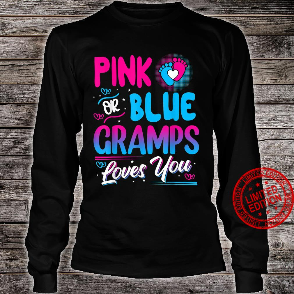 Pink Or Blue Gramps Loves You New Baby Shirt long sleeved