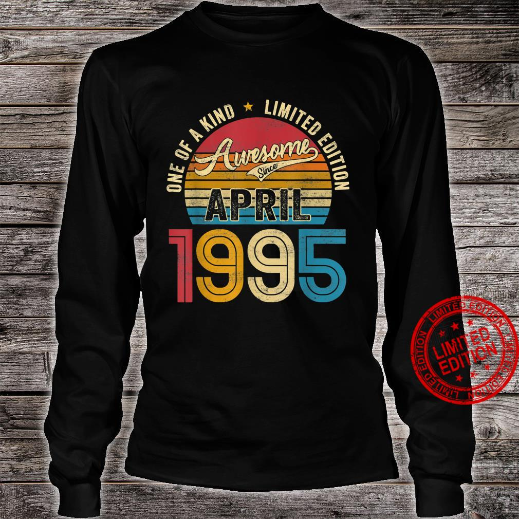 Retro 26 Years Old Awesome Since April 1995 26th Bday Shirt long sleeved