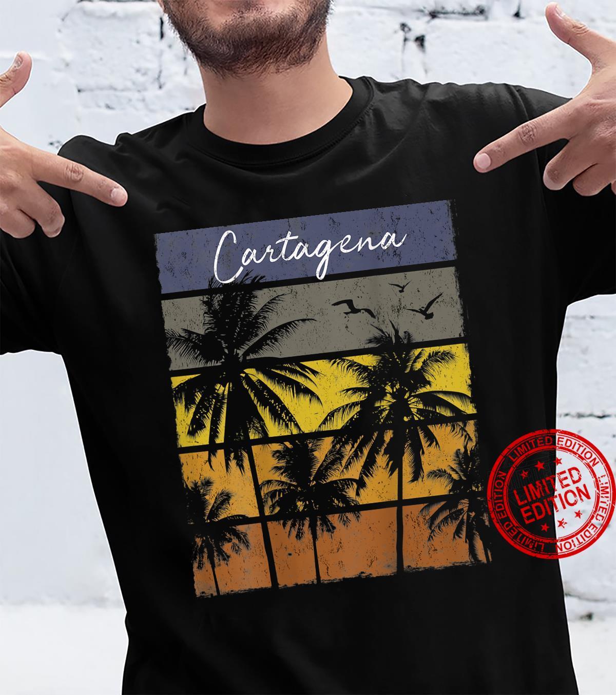 Retro Cartagena Palm Tree Shirt