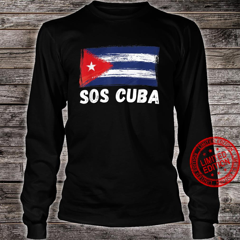 SOS CUBA Shirt, We Stand With Cuba, Support Save Free Cuba Shirt long sleeved