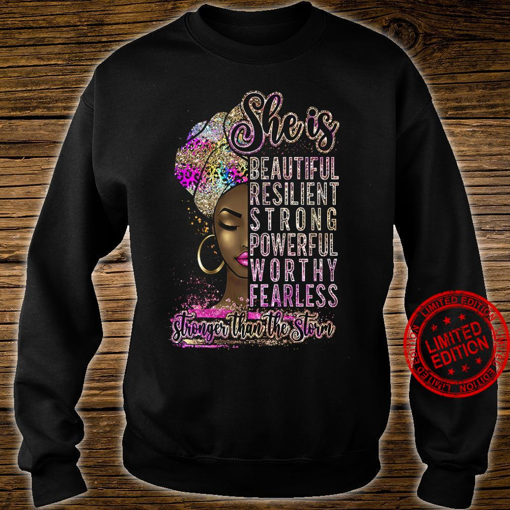 She Is Beautiful Resilient Strong Powerful Worthy Fearless Shirt sweater