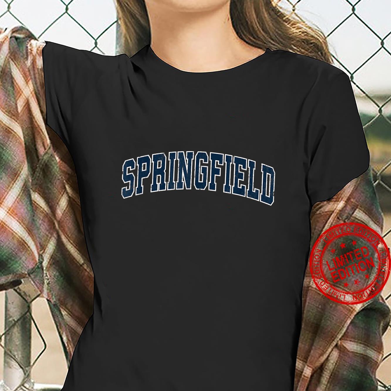 Springfield Tennessee TN Vintage Sports Design Navy Design Shirt ladies tee