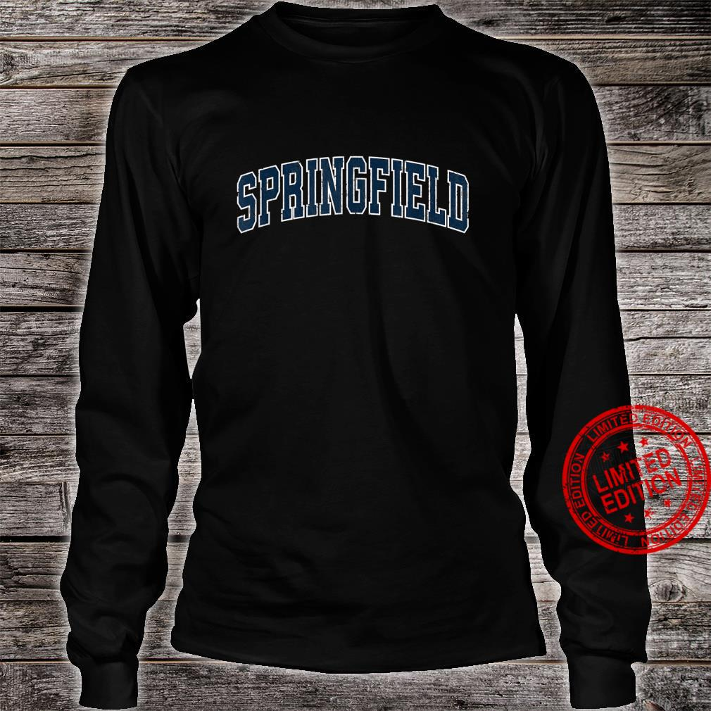 Springfield Tennessee TN Vintage Sports Design Navy Design Shirt long sleeved