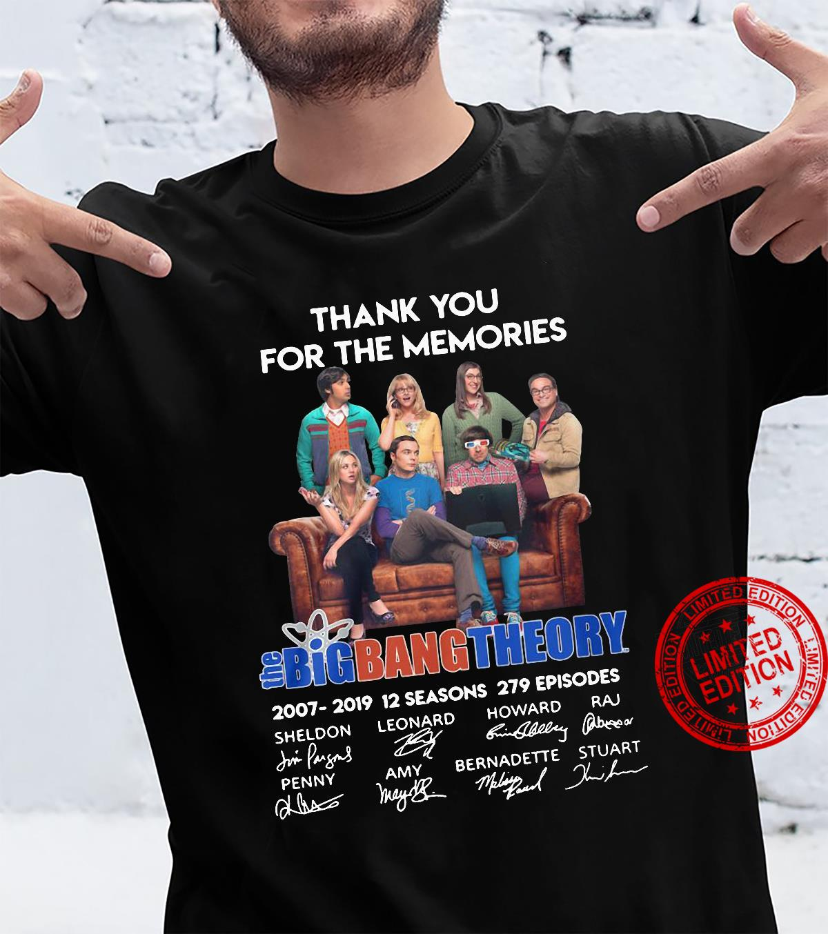 Thank you for the memories the bigbang theory signatures shirt