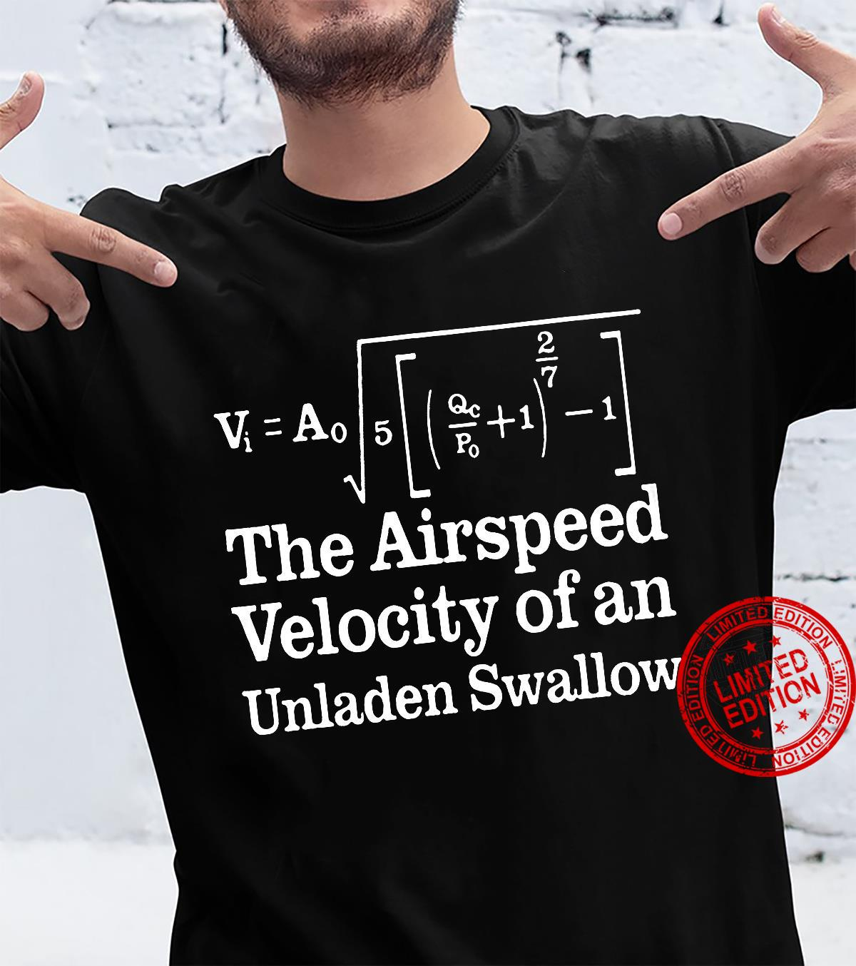 The airspeed velocity of an unladen swallow shirt