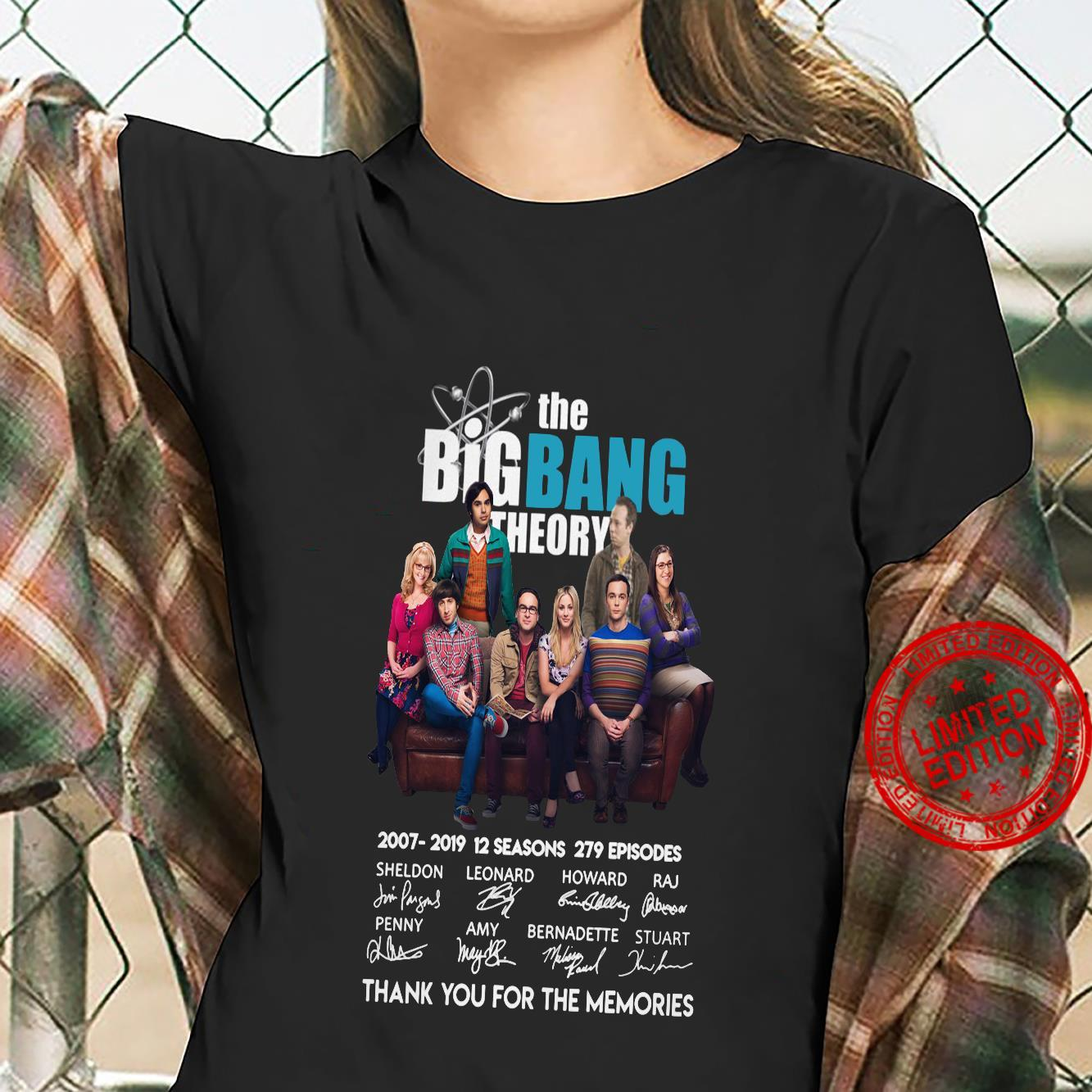 The big bang theory thank you for the memories shirt ladies tee