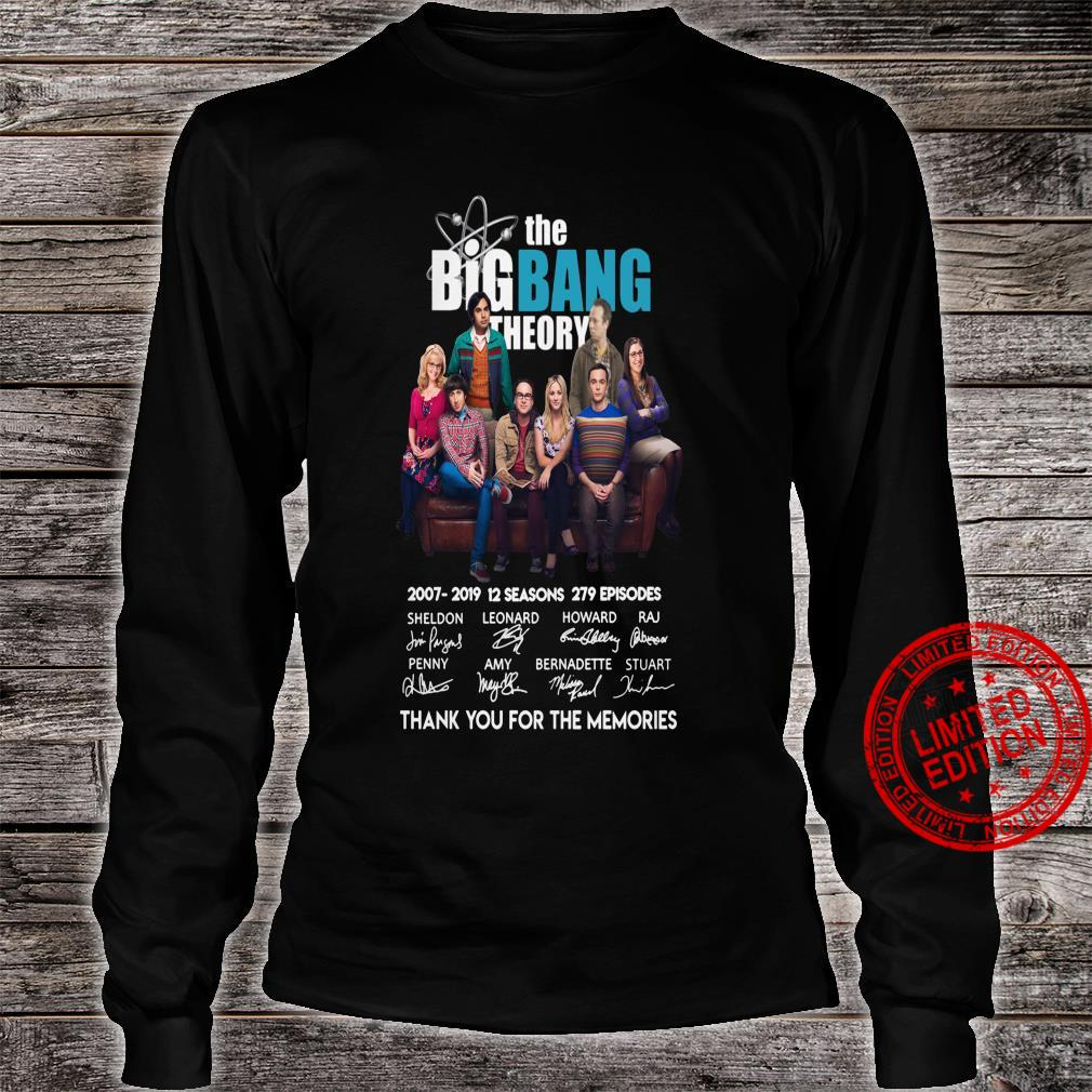 The big bang theory thank you for the memories shirt long sleeved