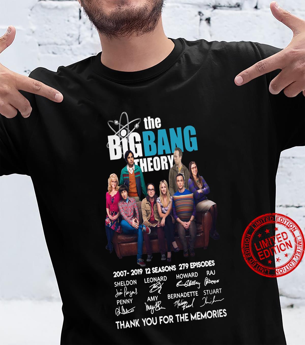 The big bang theory thank you for the memories shirt