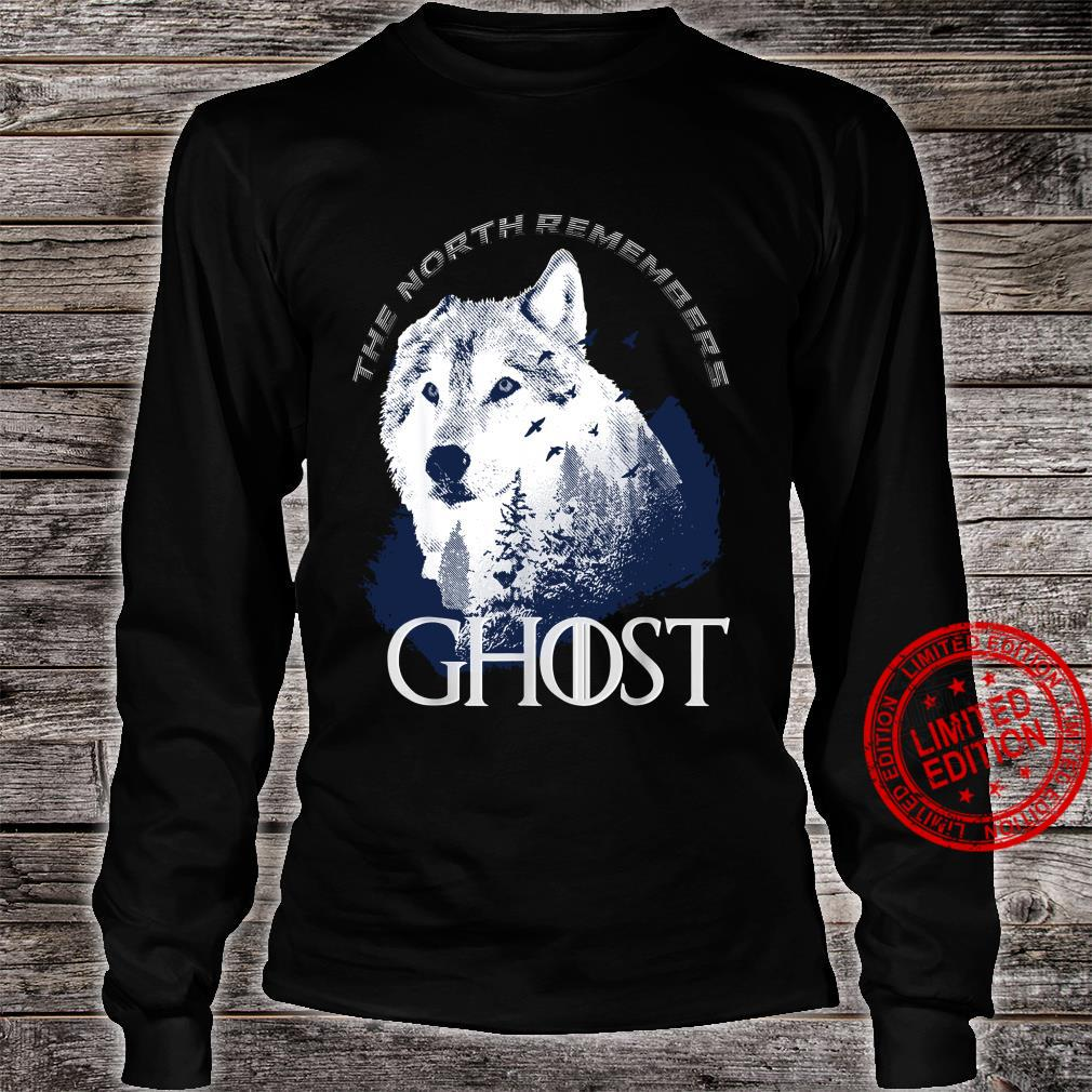 The north remember Ghost Game of Thrones shirt long sleeved
