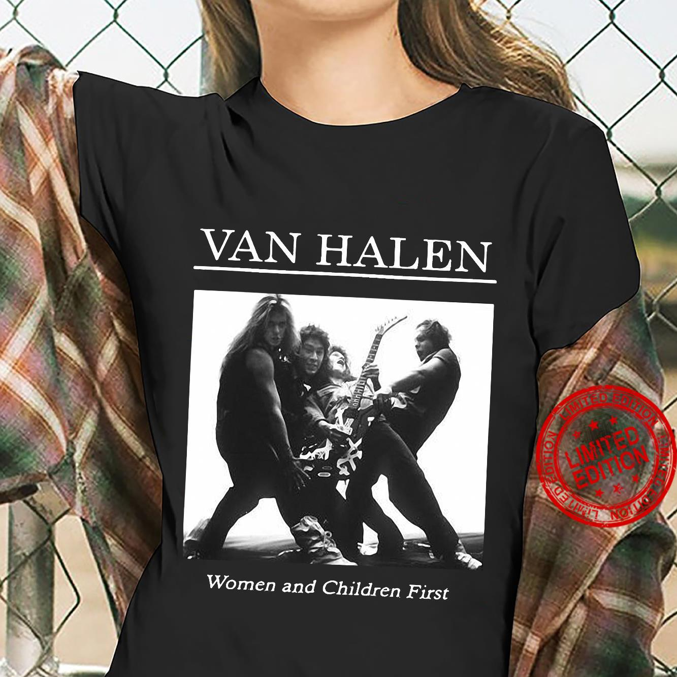 Van Halen Women And Children First Shirt ladies tee