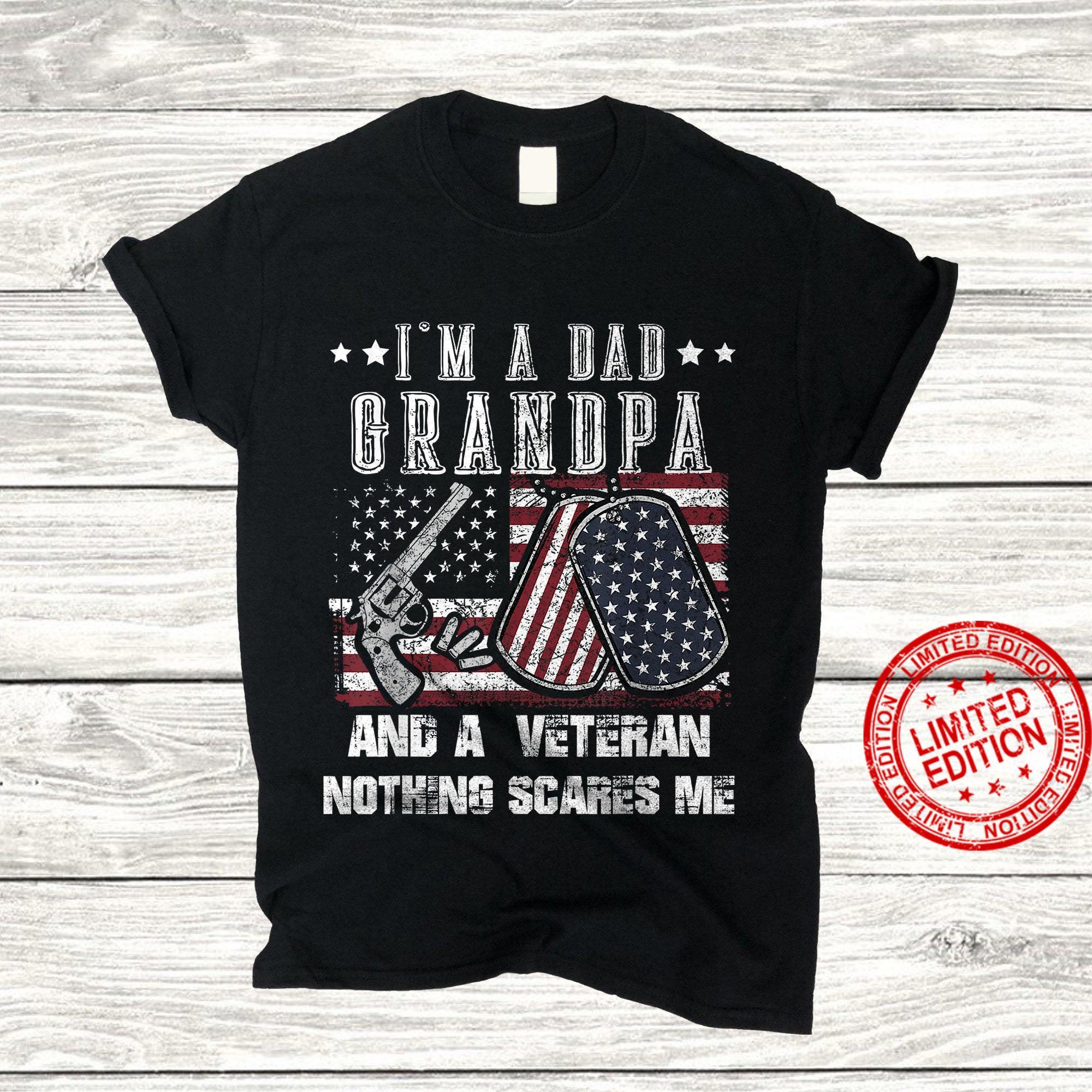 Veteran Dad ,Father's Day Gift Idea Hero Veteran Shirt