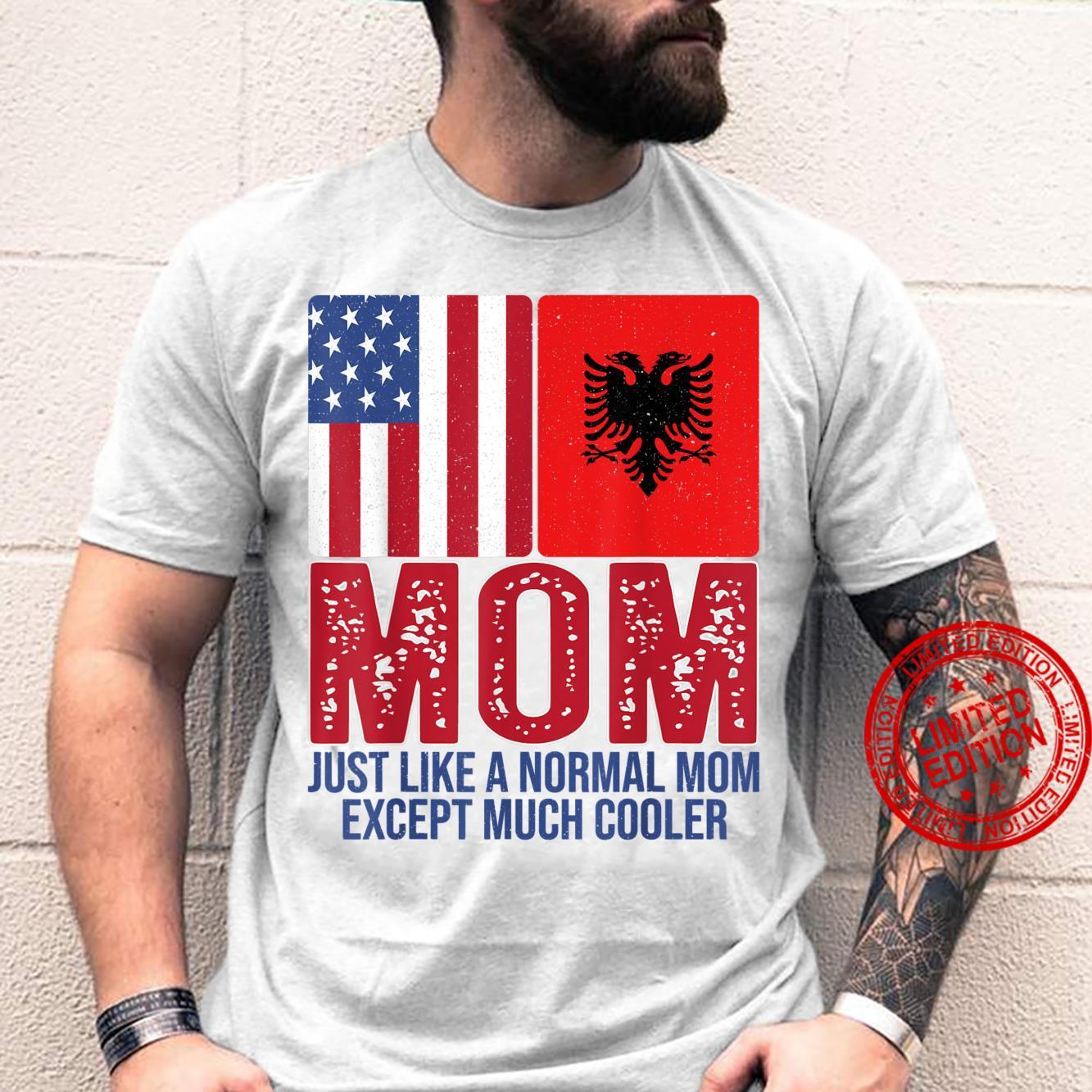 Vintage American Albanian Flag Mom Design for Mother's Day Shirt