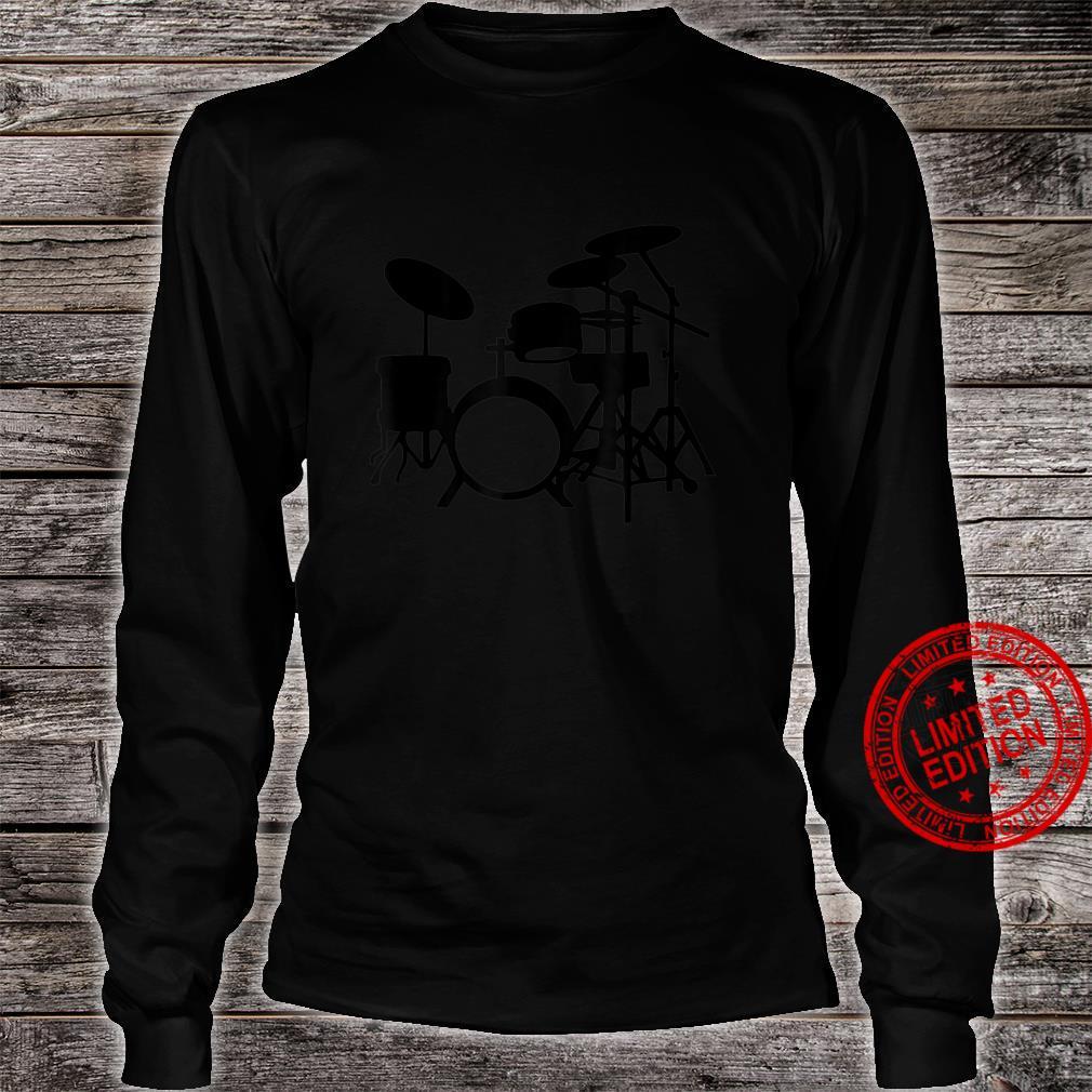Vintage Drum Set Drummers Design Shirt long sleeved
