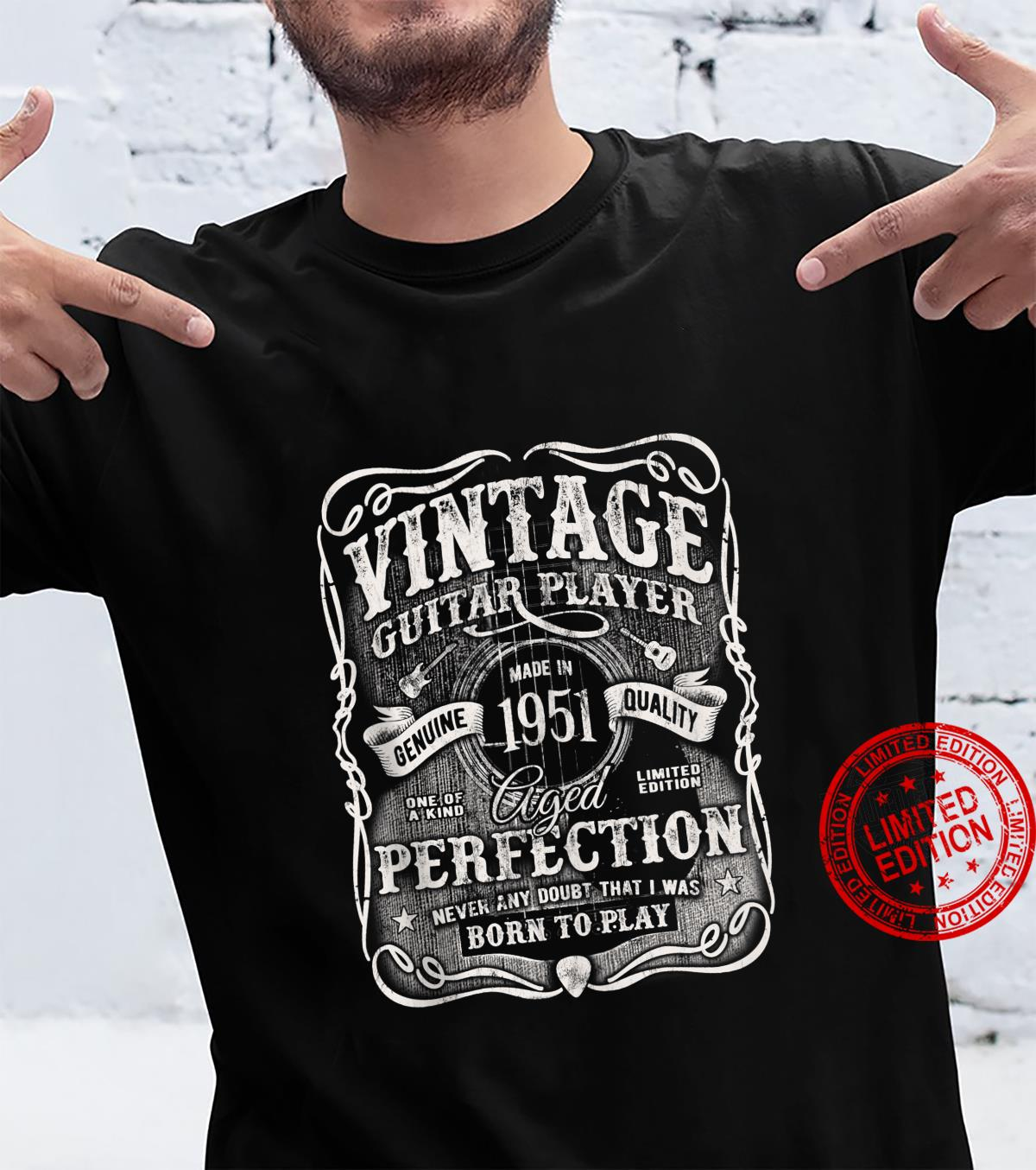 Vintage Guitar Player Made In 1951 Classic 70th Birthday Shirt