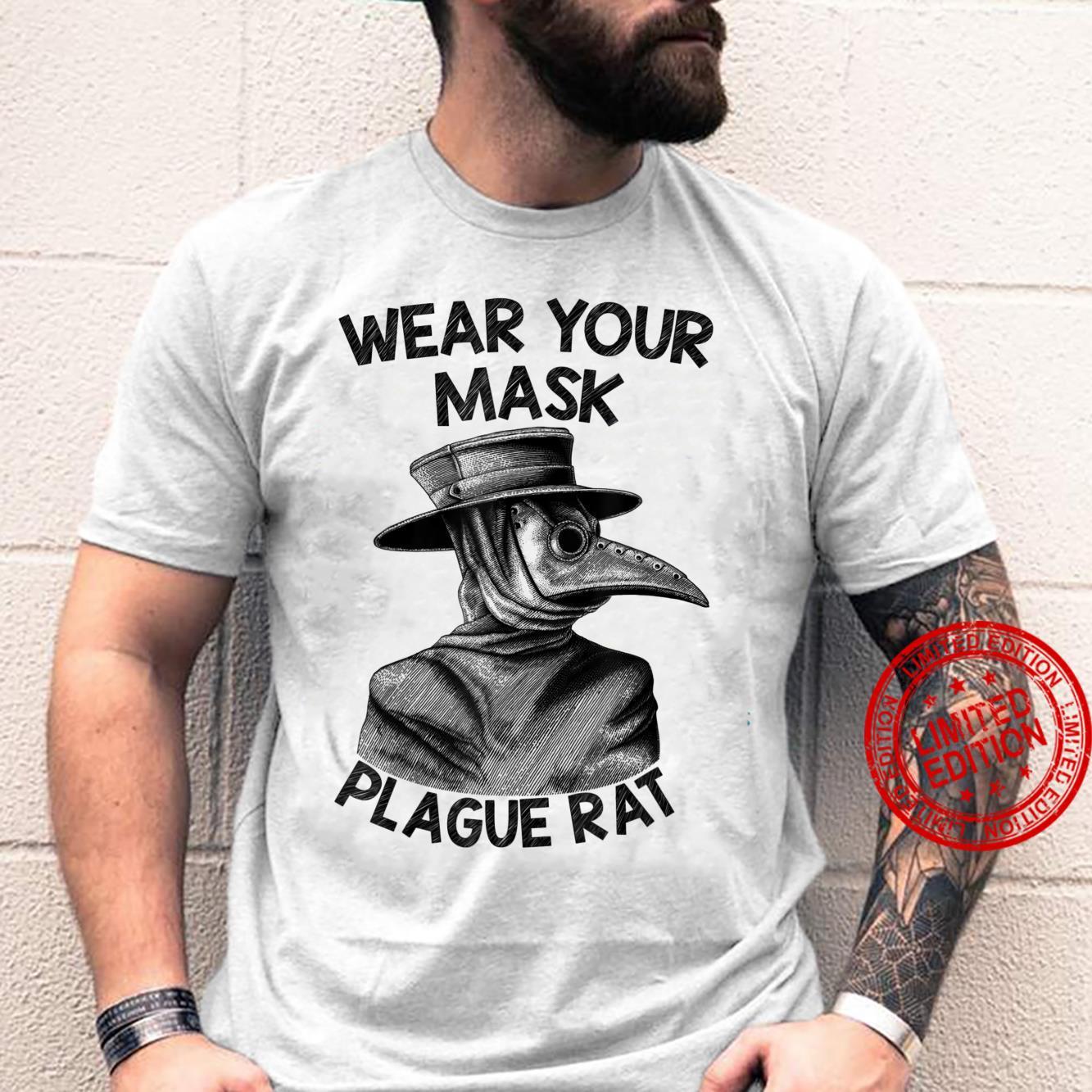 Wear Your Mask Plague Rat Pestilence Occult Goth Gothic Shirt